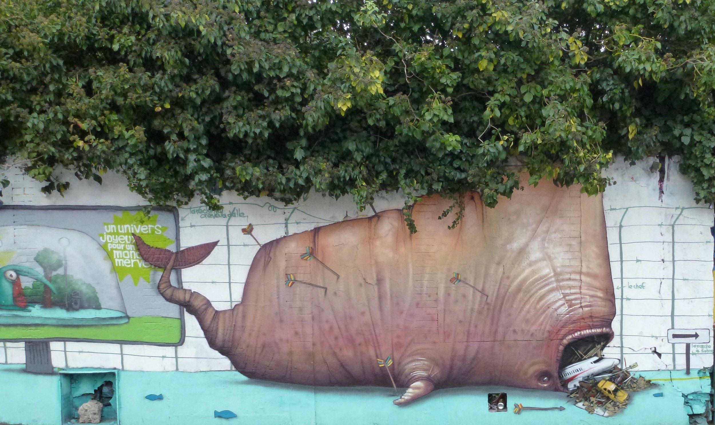 Peinture murale à Nantes en bas du quartier Chantenay