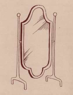 Miroir : glace du XVIII ème, appelé psyché