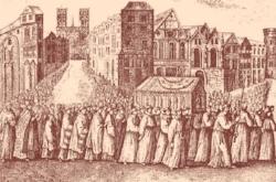 La procession de Sainte Geneviève