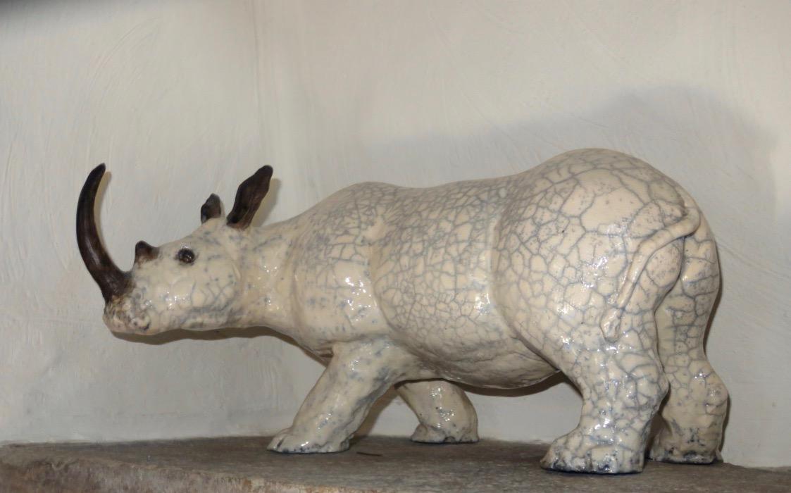 """Le rhino, armé et caparaçonné comme un chevalier du moyen âge, doué d'une énergie redoutable, n'a rien à craindre des prédateurs standards. C'est un rescapé des temps anciens, il est né assez rapidement après la bérézina chez les dinosaures. Cette force de la nature résonne chez les hommes tourmentés par """"le complexe du chihuahua"""", qui imaginent retrouver leur puissance sexuelle en consommant leur corne. En se rongeant les ongles, ils pourraient, à moindres frais, obtenir la même illusion : ces deux phanères ont la même composition, principalement de la kératine."""