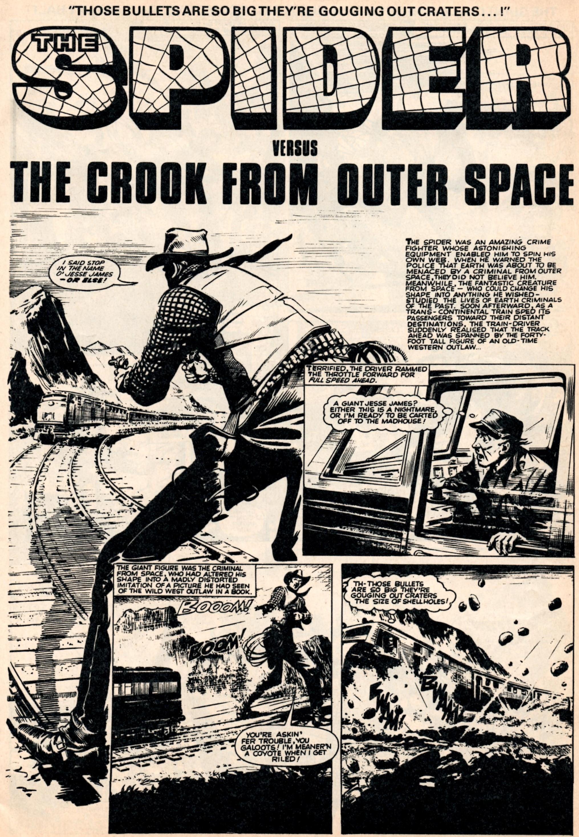 The Spider: Jerry Siegel (writer), Reg Bunn (artist); reprinted from Lion