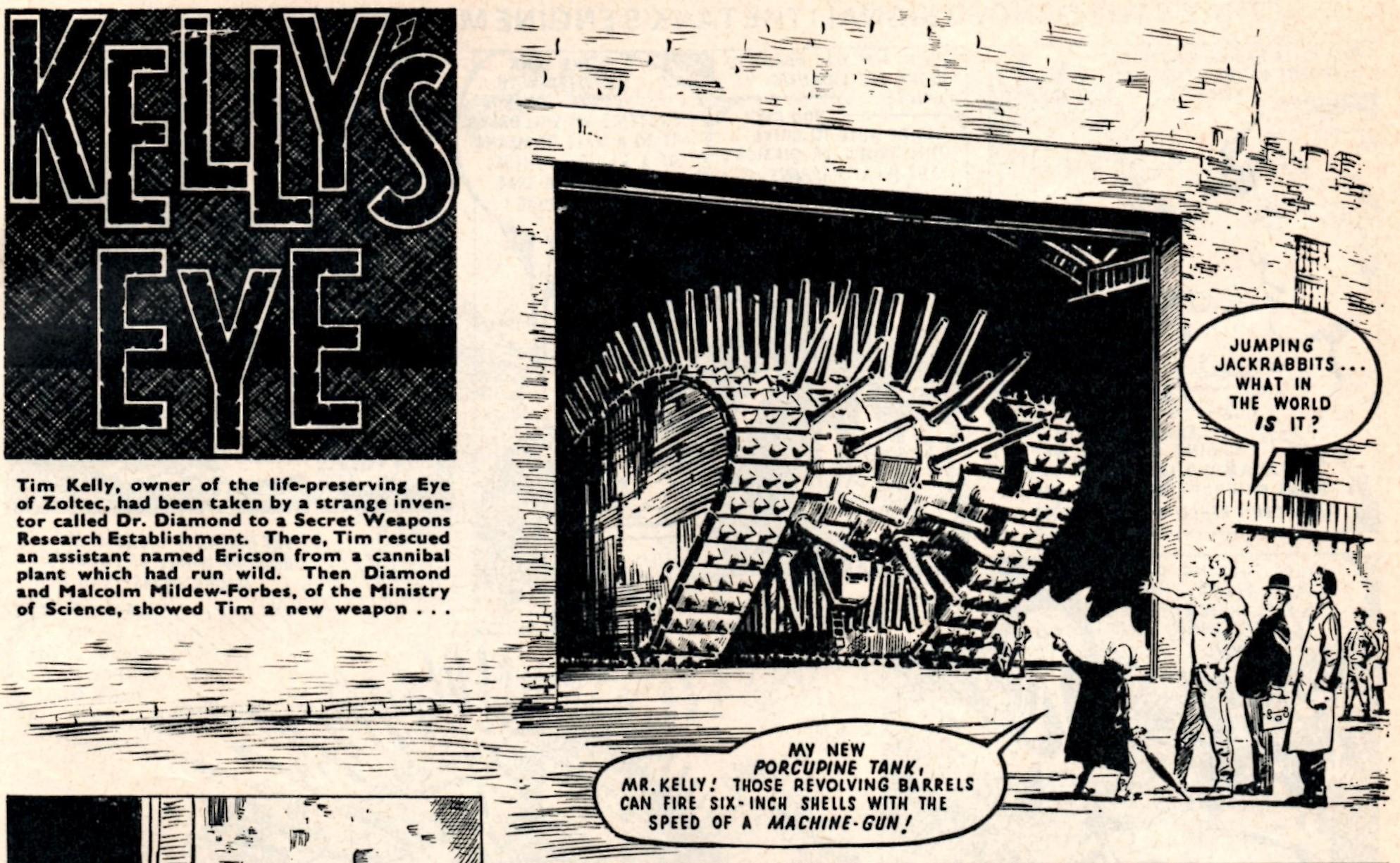 Kelly's Eye: Solano Lopez (artist); reprinted from Valiant