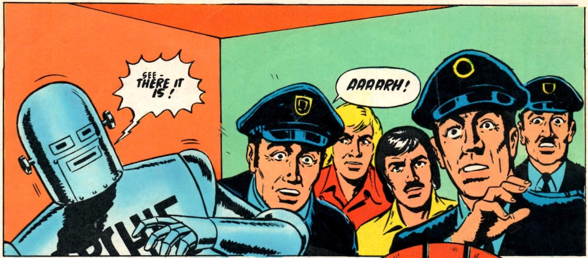 Robot Archie: E George Cowan (writer), Bert Bus (artist); reprinted from Lion