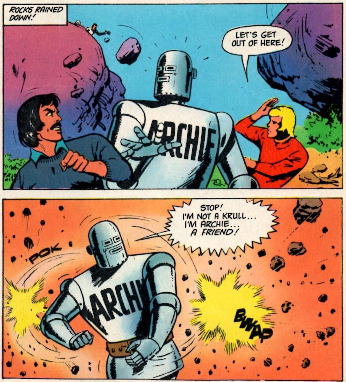 Robot Archie (Vulcan, 25 October 1975): E George Cowan (writer), Bert Bus (artist)