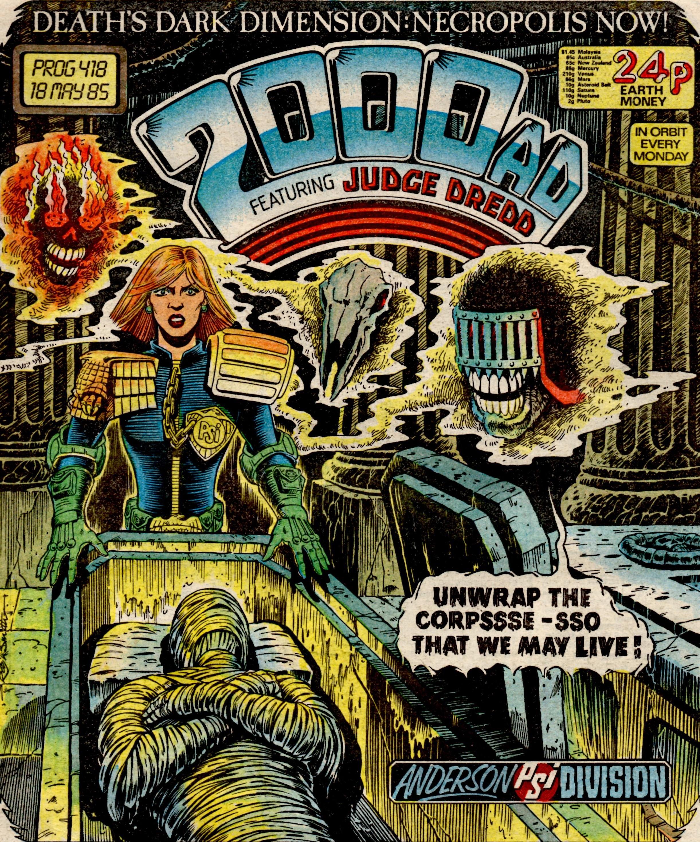 2000AD, Prog 418, 18 May 1985