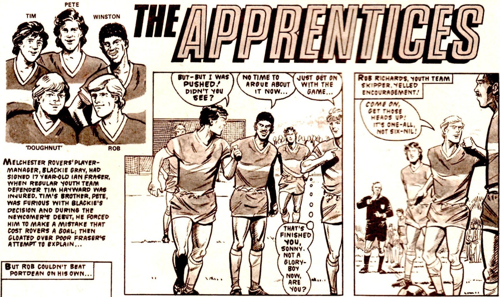 The Apprentices (Roy of the Rovers, 12 November 1983)