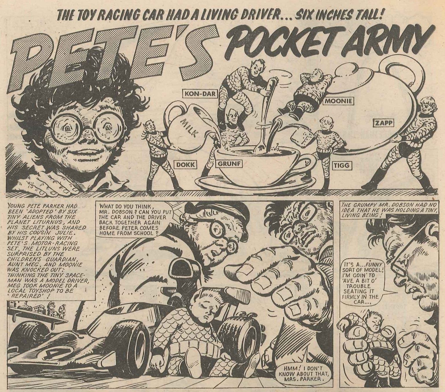 Pete's Pocket Army: Tom Tully (writer), Solano Lopez (artist)