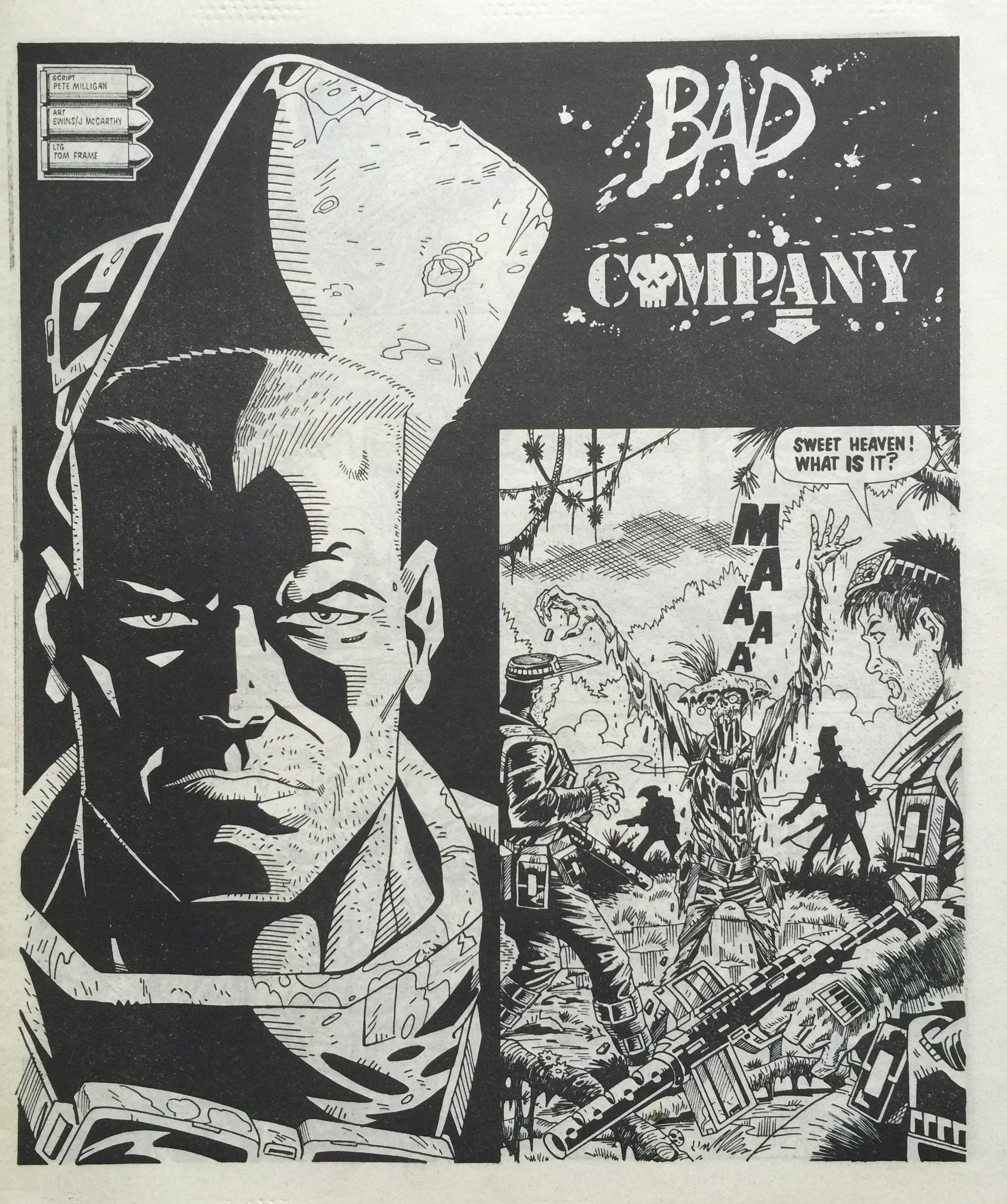 Bad Company: Pete Milligan (writer), Brett Ewins and Jim McCarthy (artists)