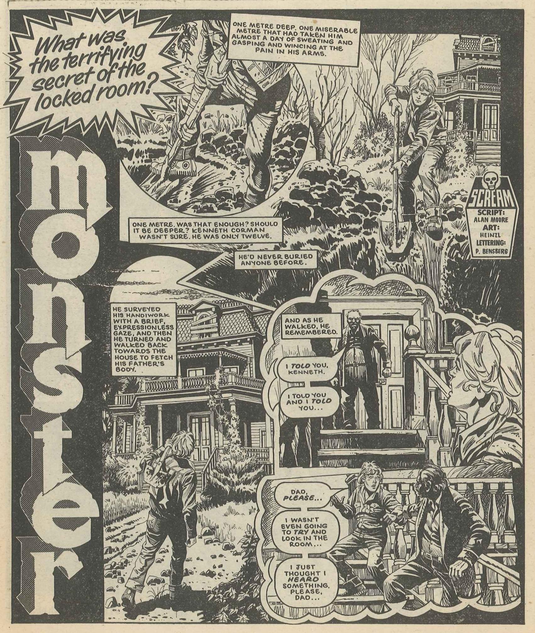 Monster: Alan Moore (writer), Heinzl (artist)