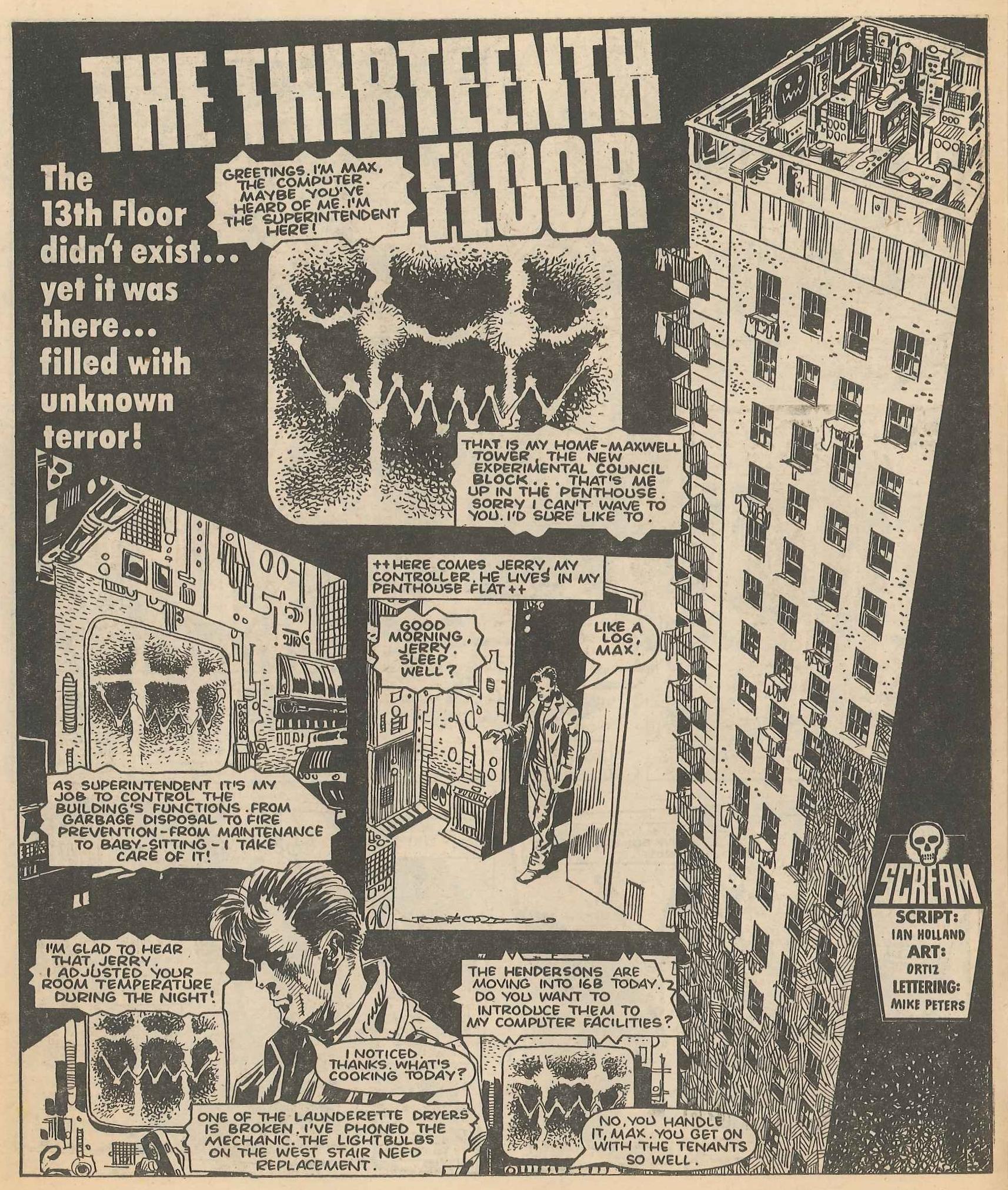 The Thirteenth Floor: Ian Holland (writer), Jose Ortiz (artist)