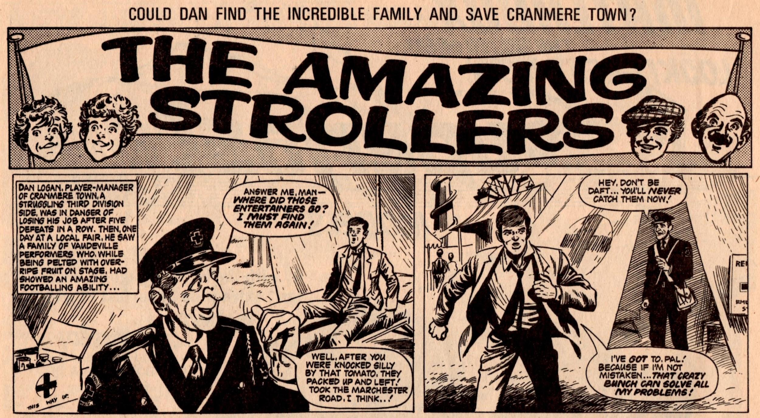 The Amazing Strollers: Scott Goodall (writer), John Stokes? (artist)