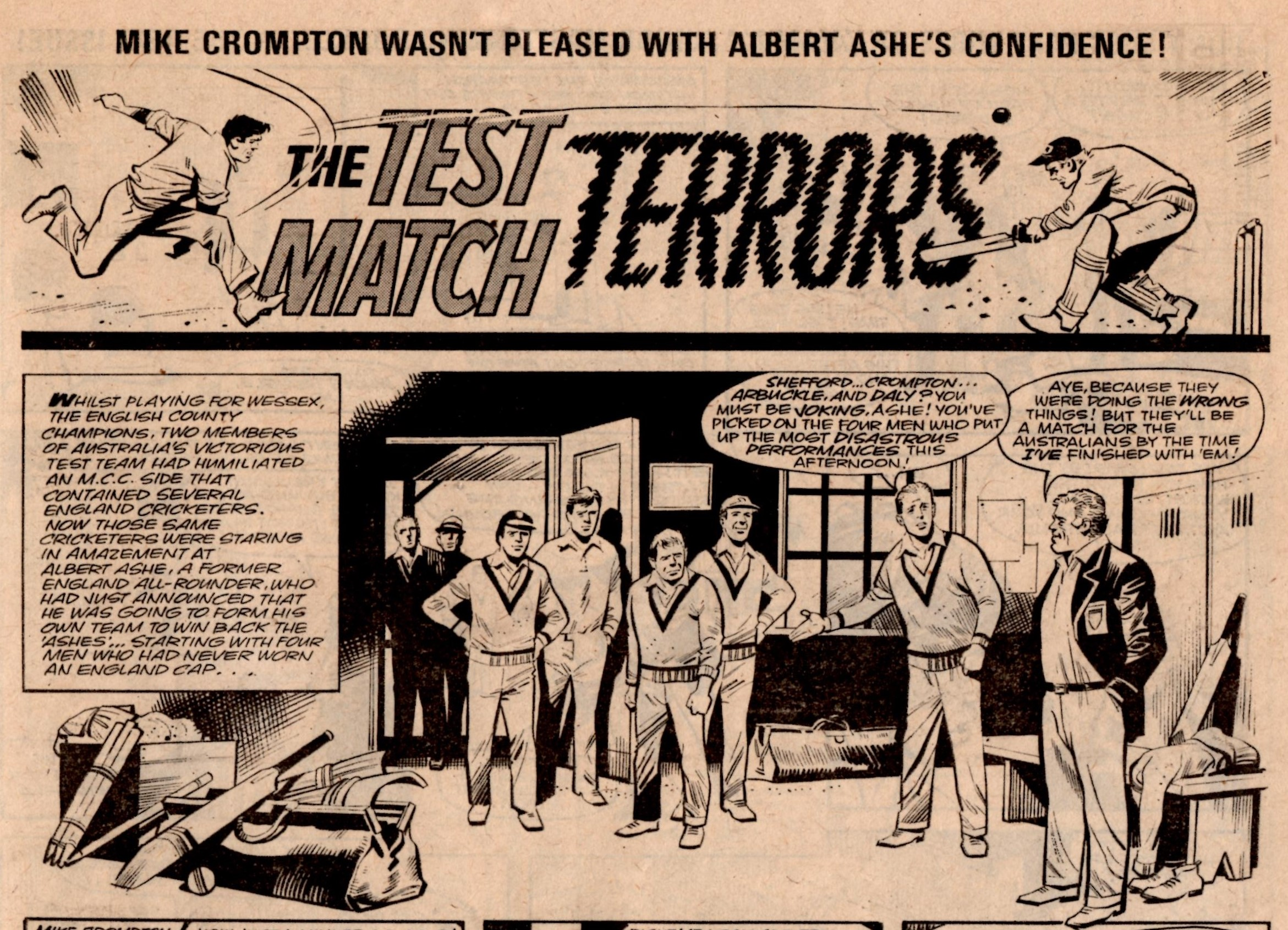 The Test Match Terrors: Mike Western (artist)