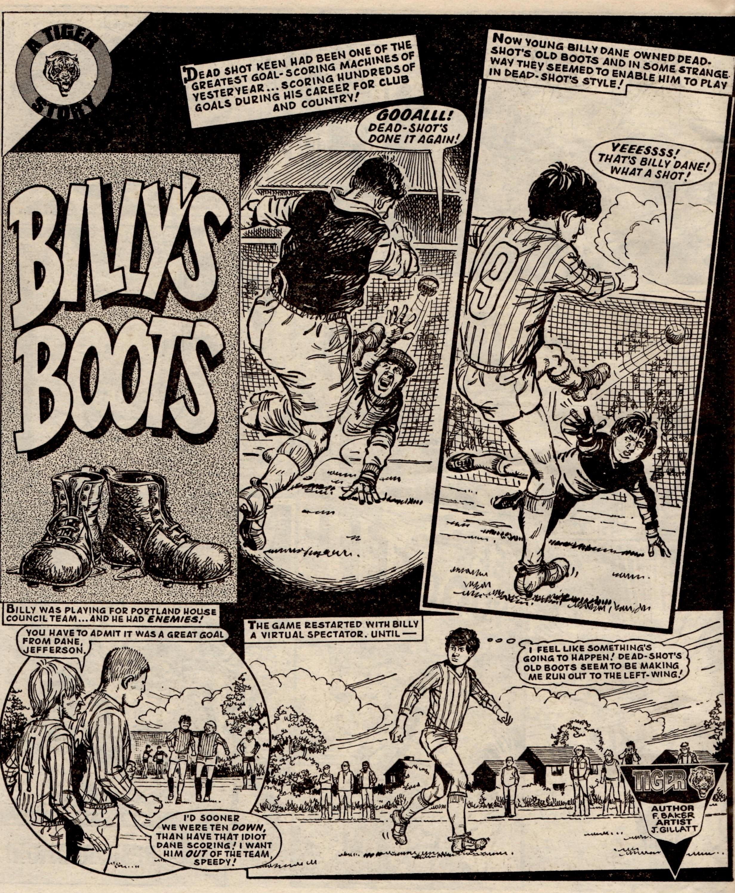 Billy's Boots: Fred Baker (writer), John Gillatt (artist)