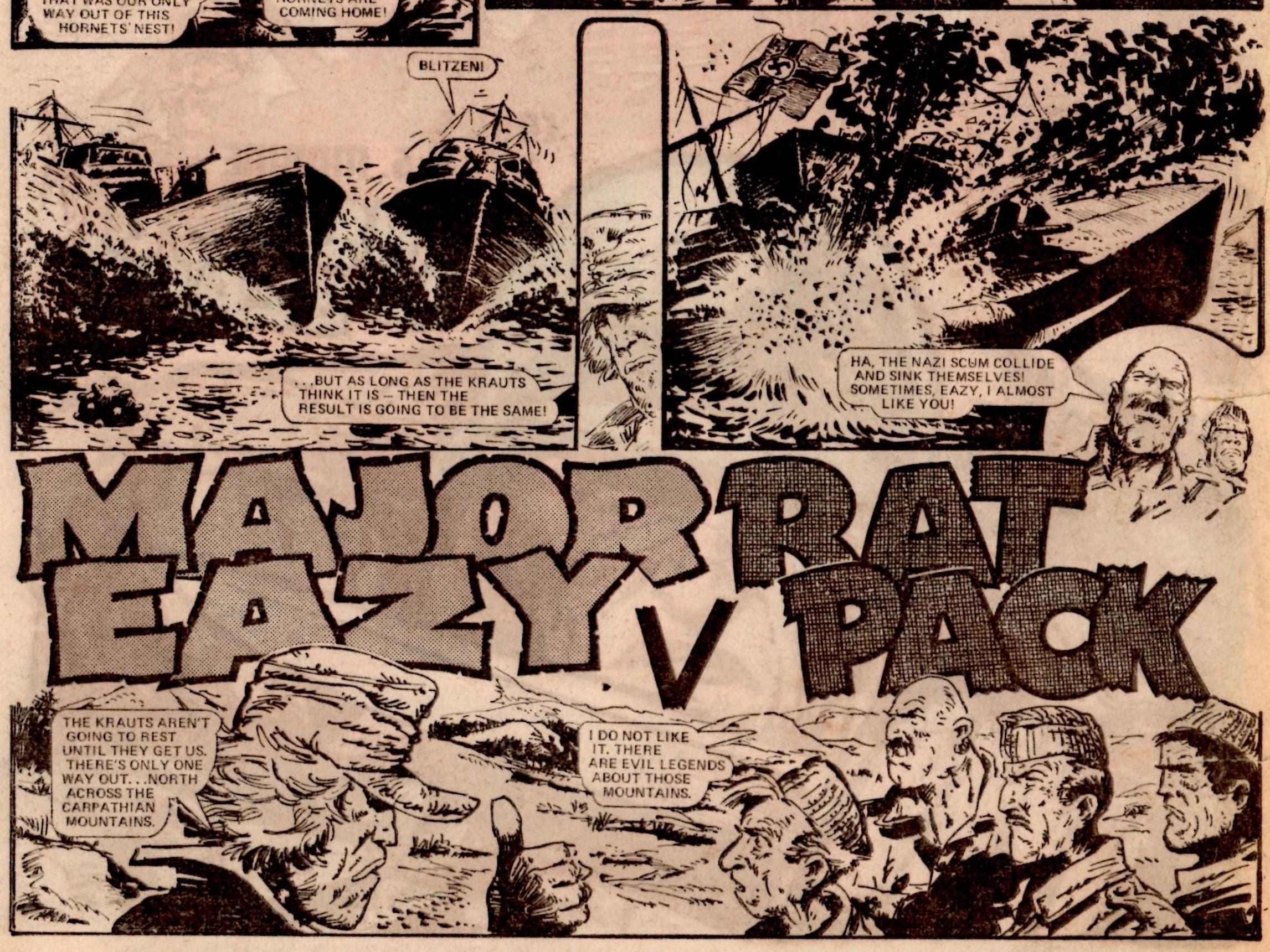 Major Eazy v Rat Pack: Alan Hebden (writer), Carlos Ezquerra (artist)
