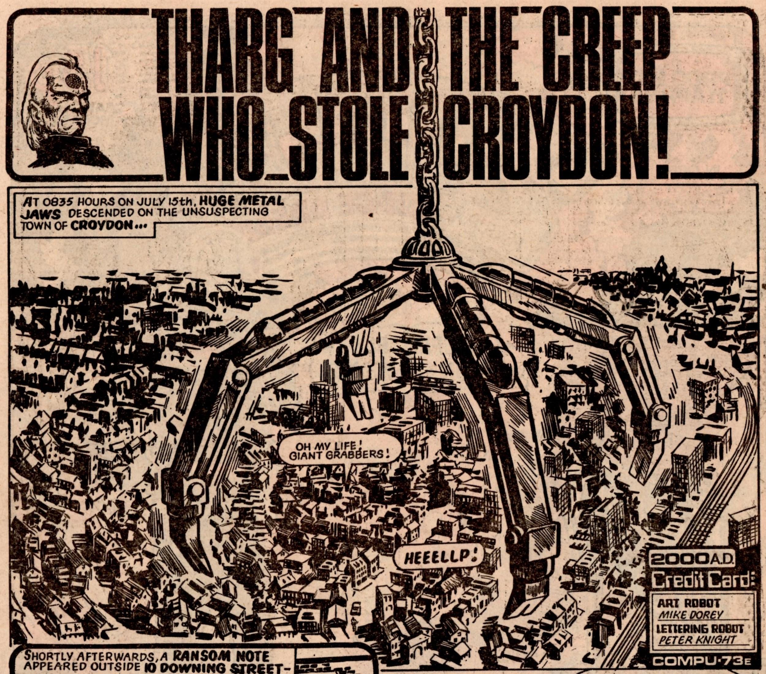 Tharg and the Creep Who Stole Croydon: Mike Dorey (artist)
