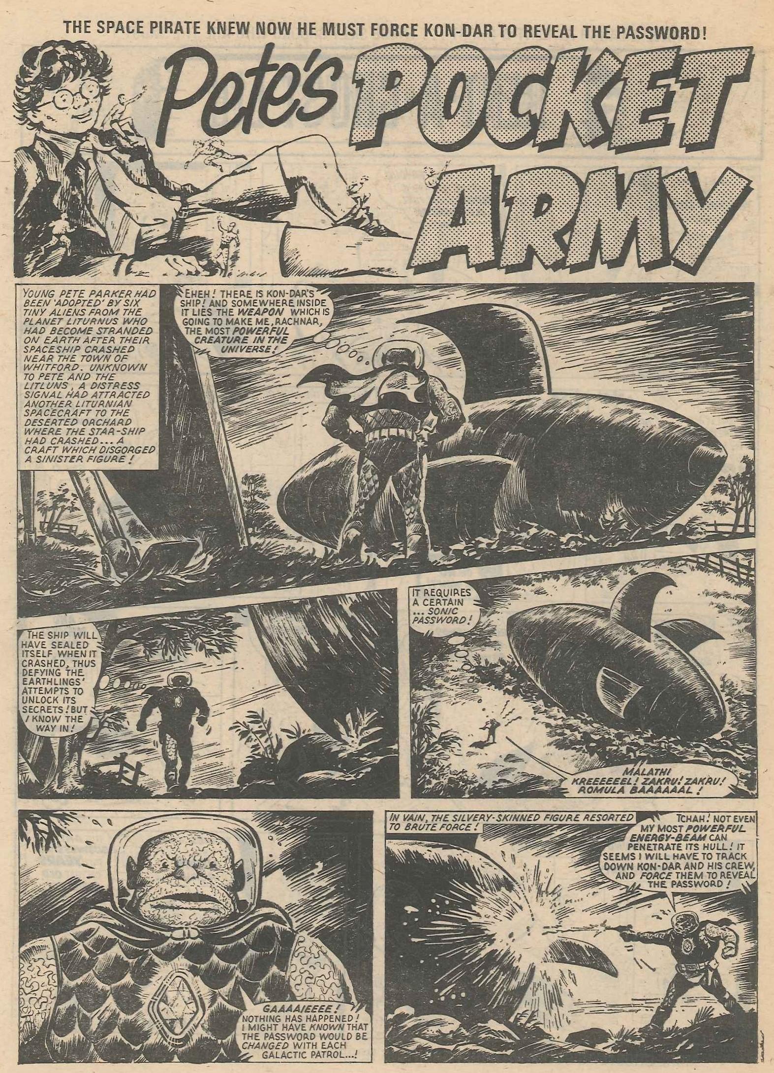 Pete's Pocket Army: Tom Tully (writer), Solano Lopez (artist)