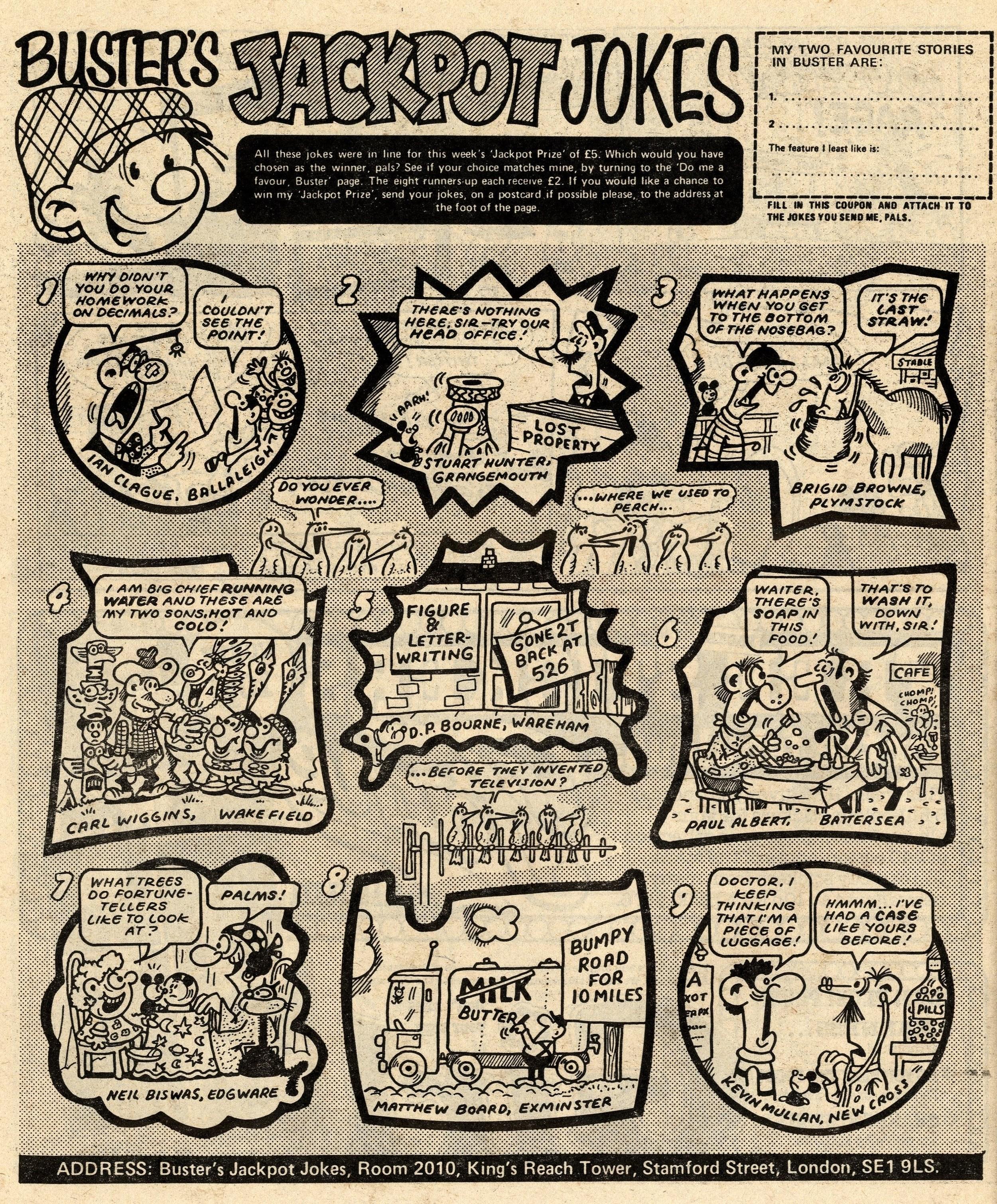 Buster's Jackpot Jokes: Jack Clayton (artist)