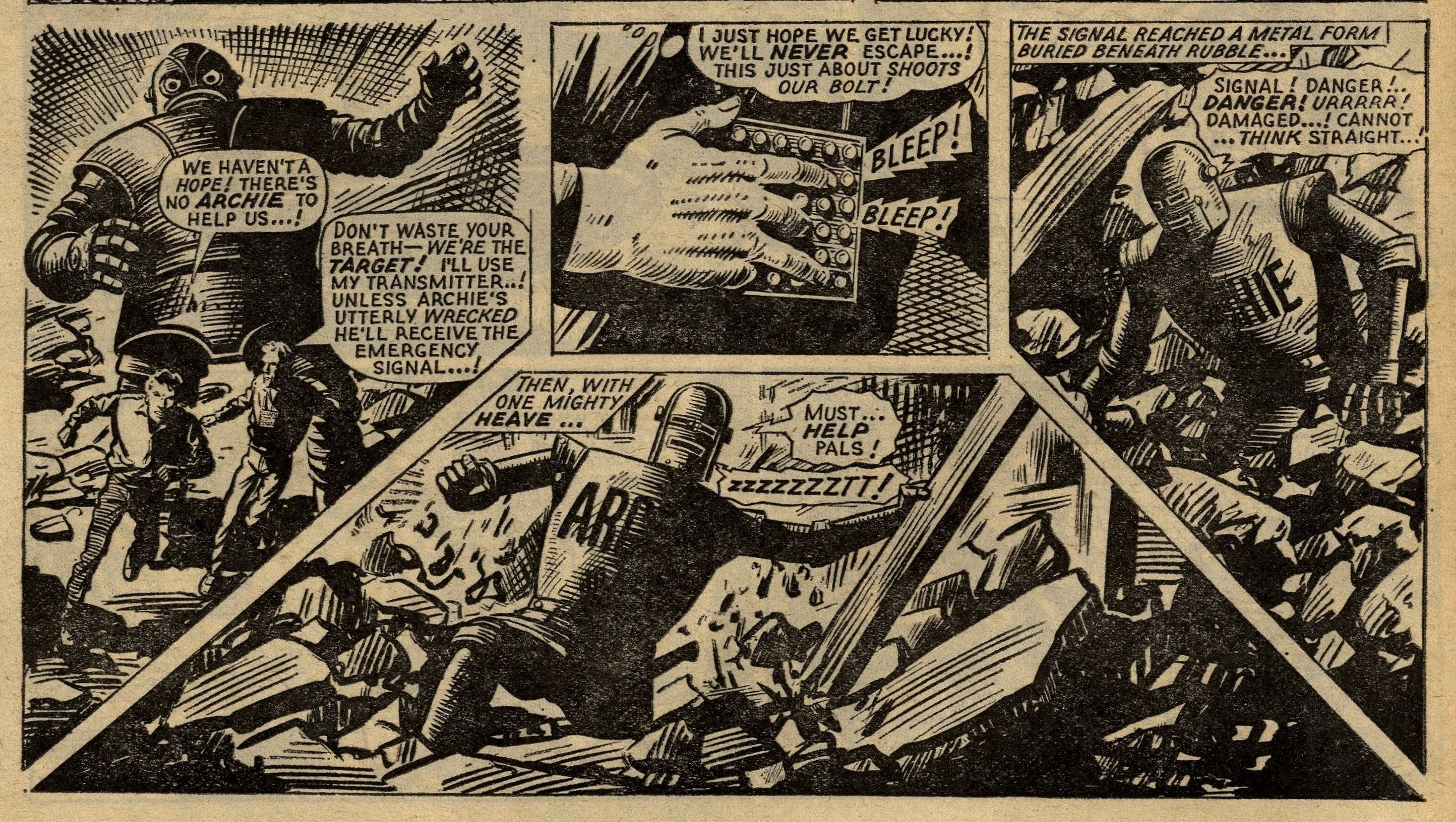 Robot Archie Fights the Smasher:  George Cowan (writer), Ted Kearon (artist)