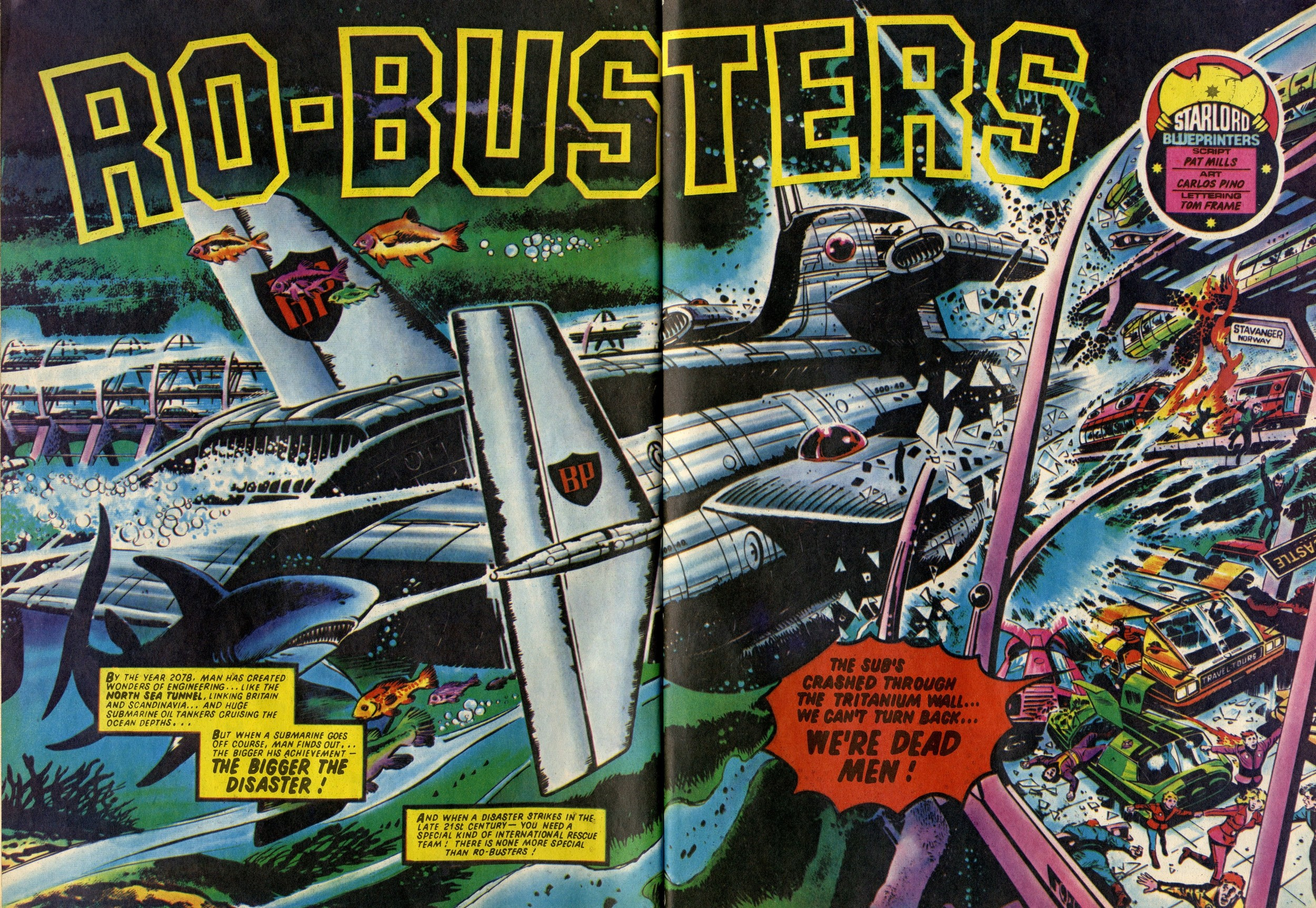 Ro-busters: Pat Mills (writer), Carlos Pino (artist)