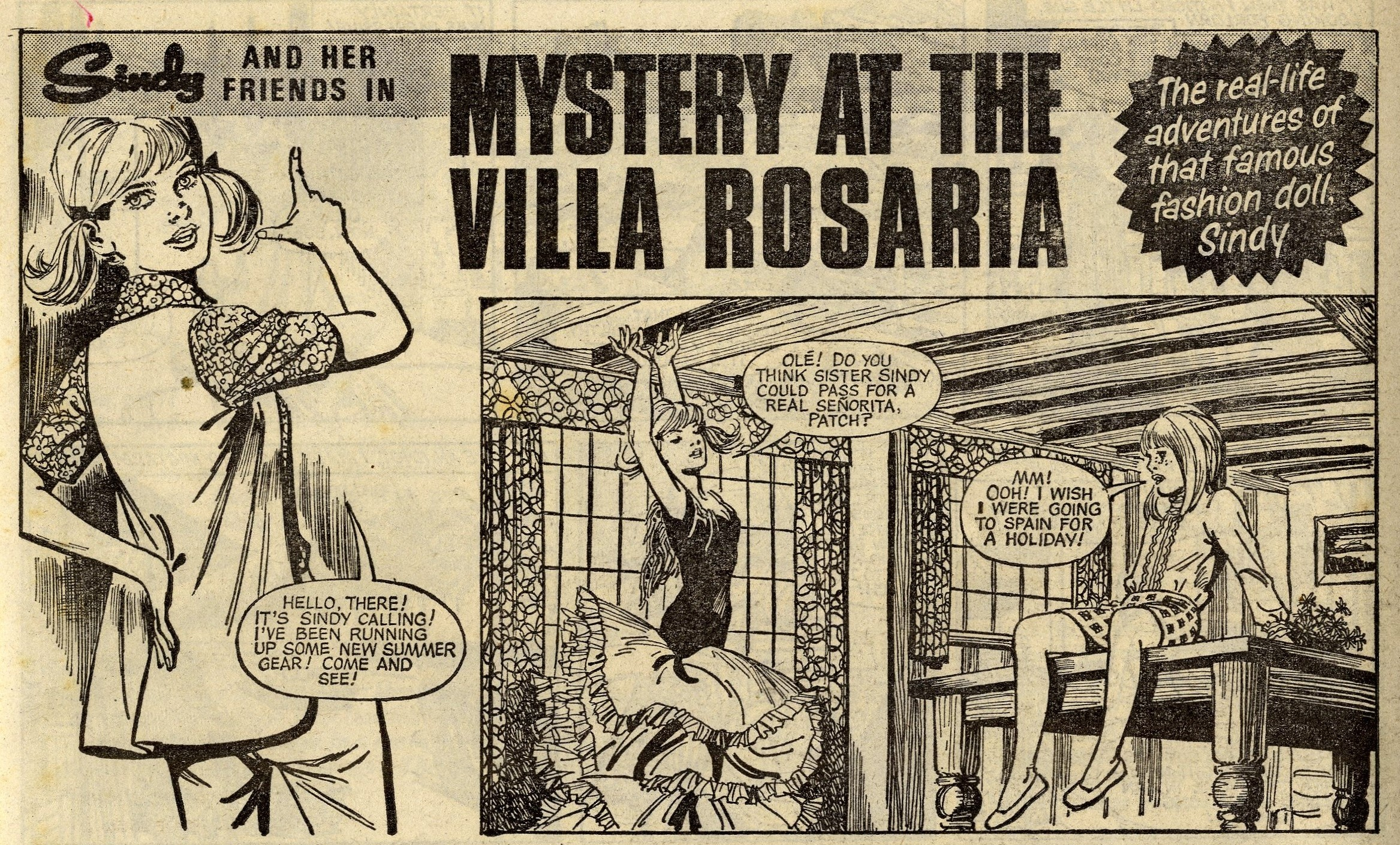 Sindy and her Friends in Mystery at the Villa Rosaria: Phil Townsend (artist)