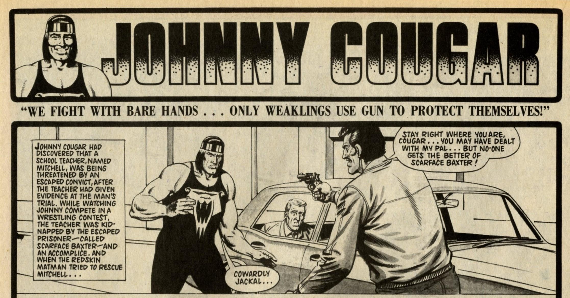 Johnny Cougar: Barrie Tomlinson (writer), Sandy James (artist)