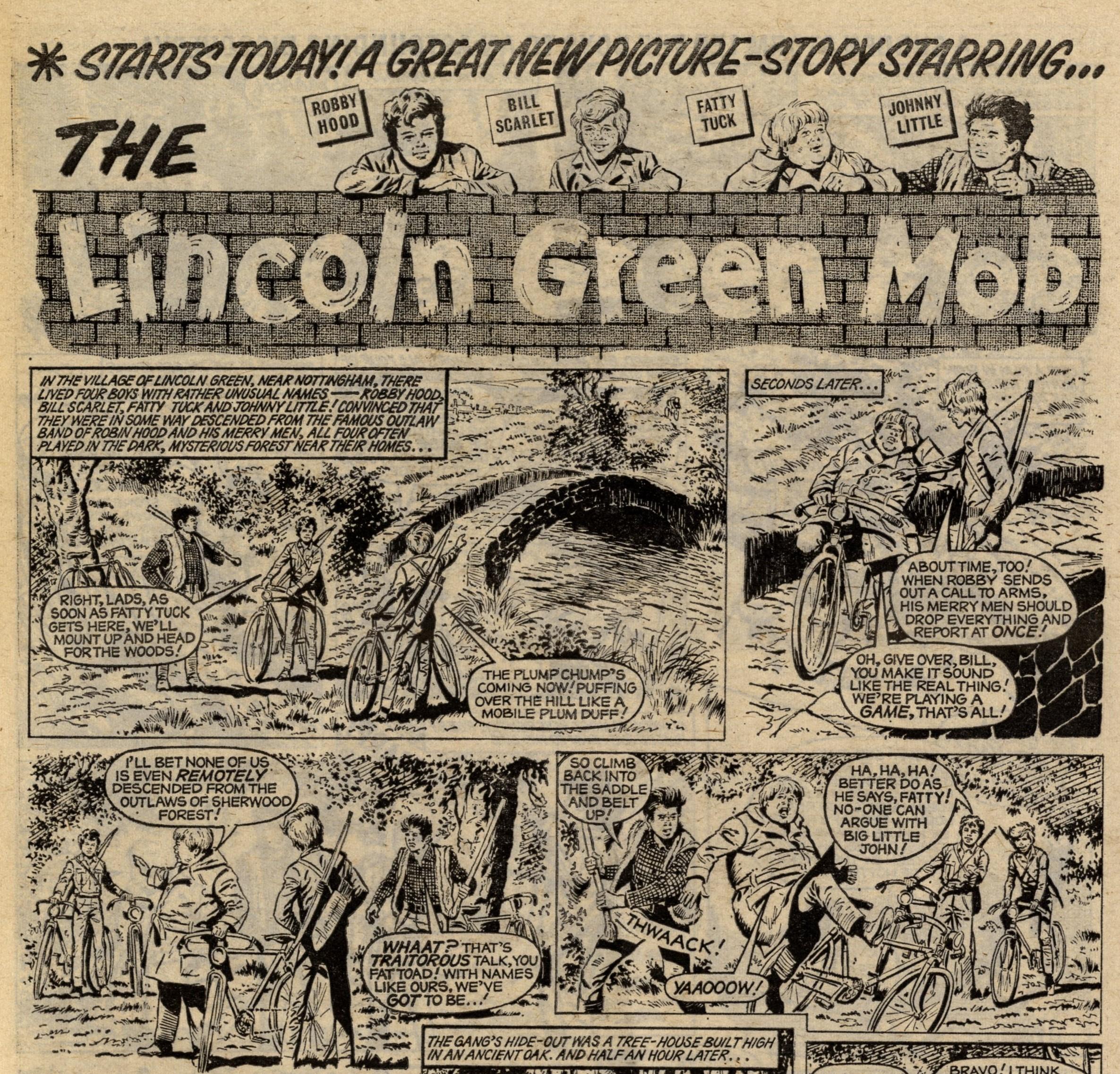 The Lincoln Green Mob: creators unknown