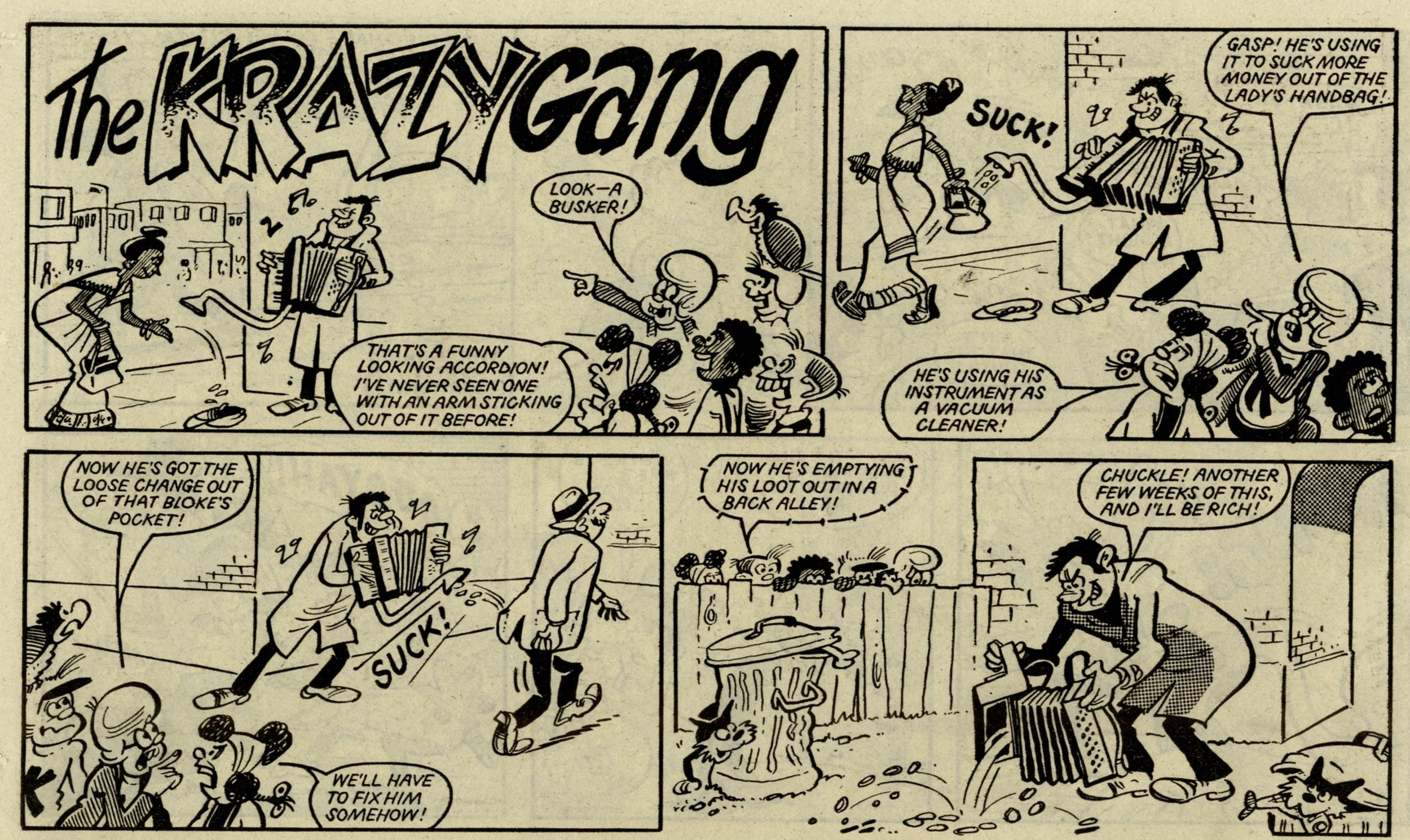 The Krazy Gang: Ian Knox or Bob Hill? (artist)