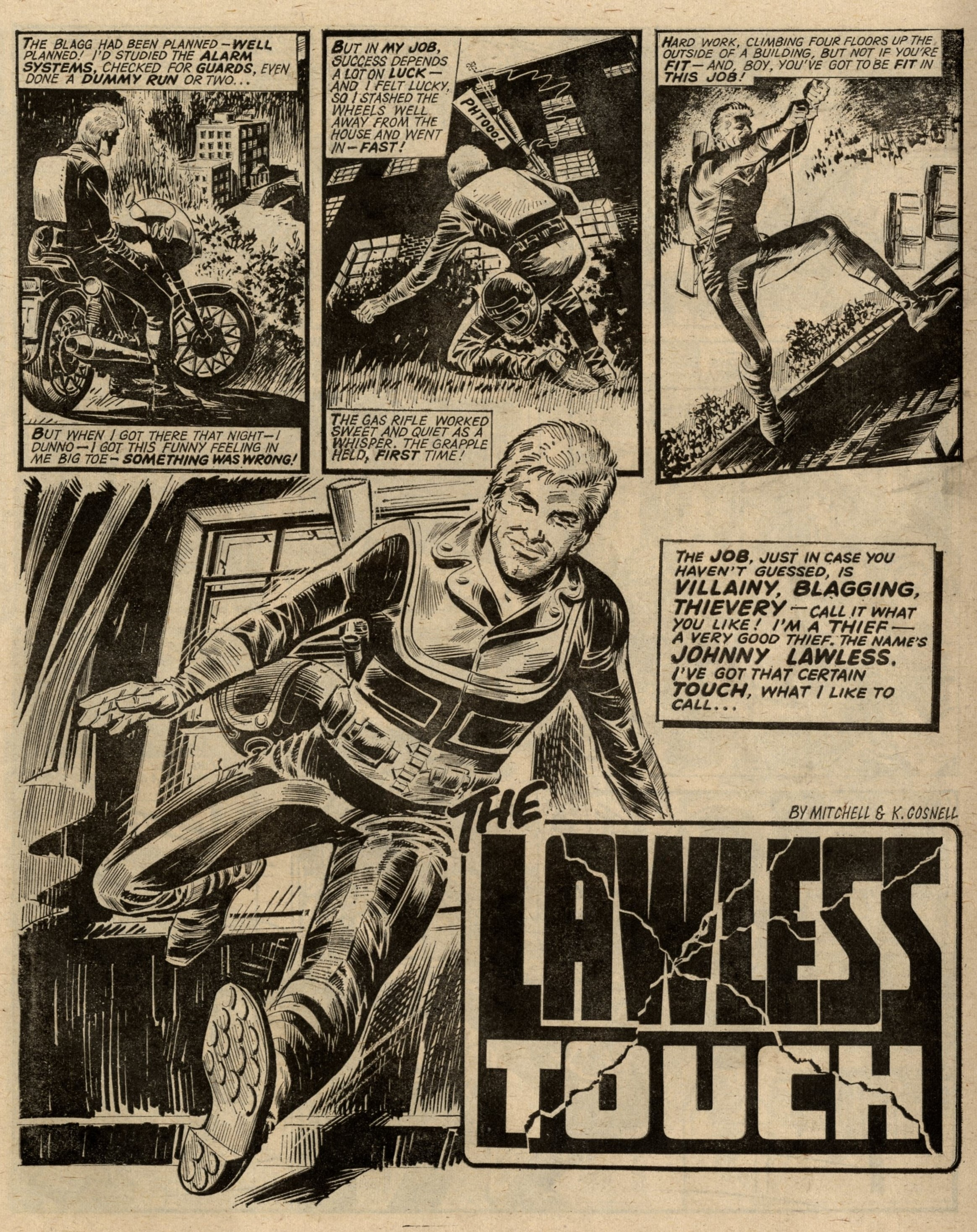 The Lawless Touch: Kelvin Gosnell (writer), Barrie Mitchell (artist)