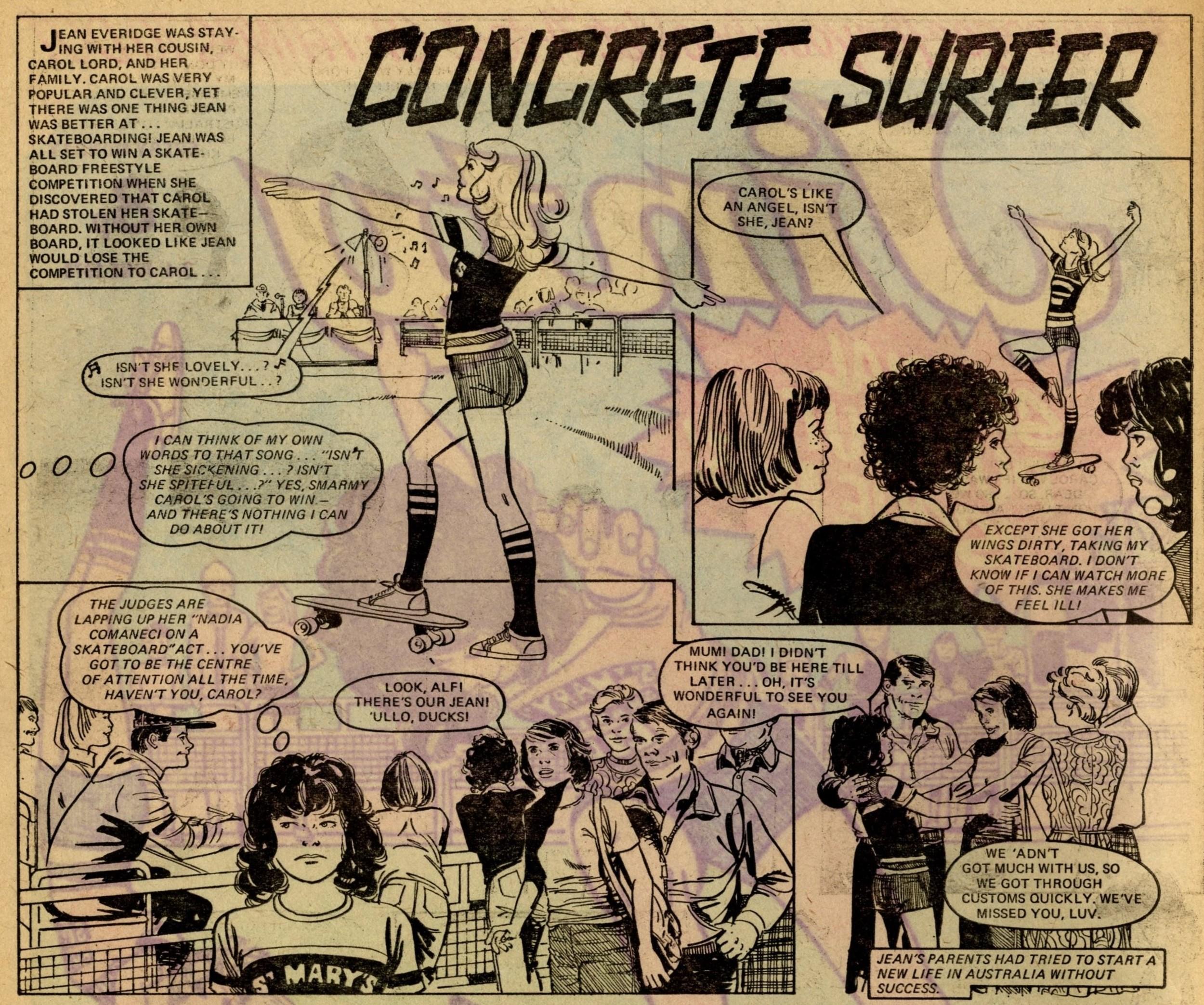 Concrete Surfer: Pat Mills (writer), artist unknown