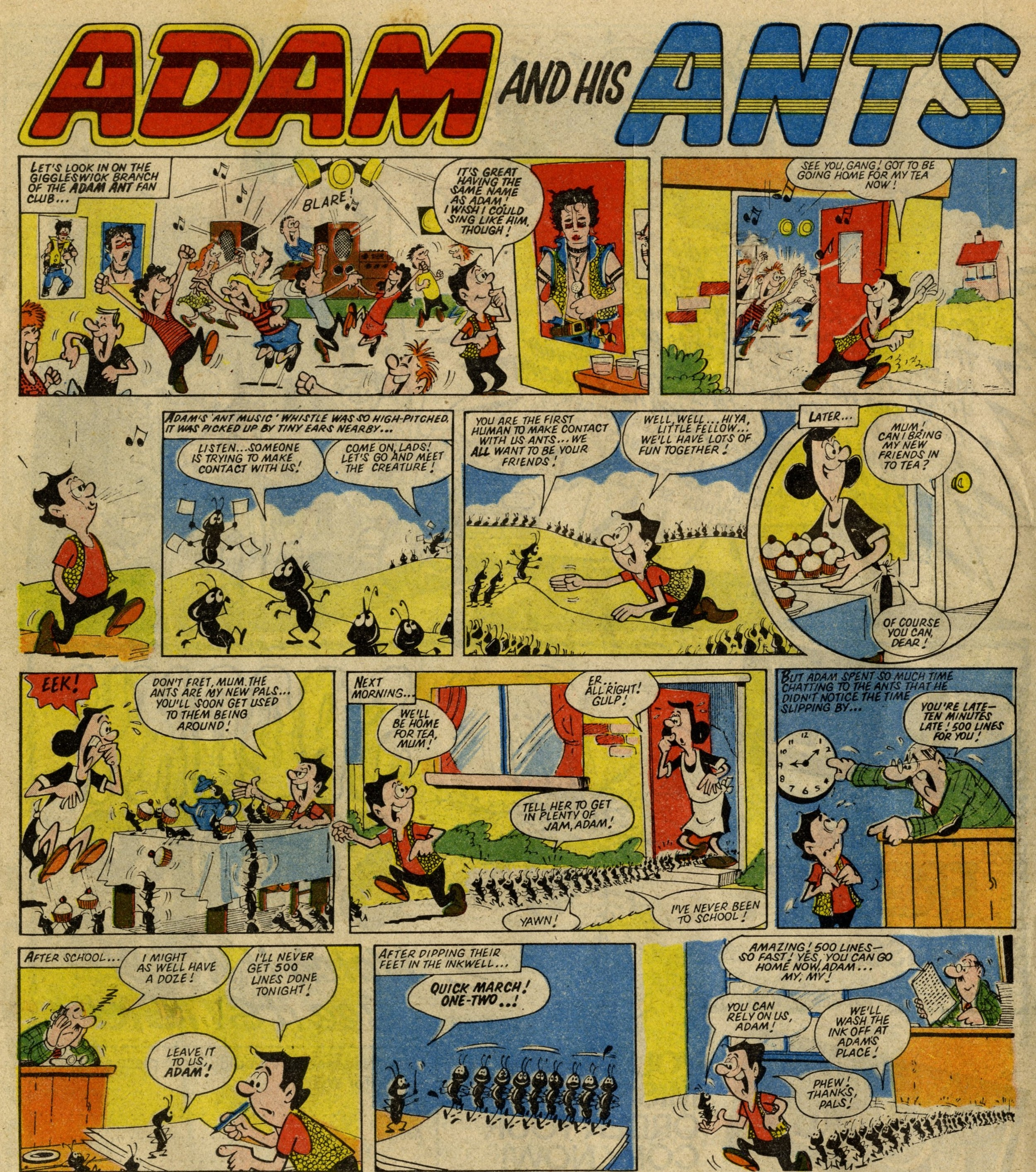 Adam and his Ants (from  Wow!  1982): Mike Atwell (artist)