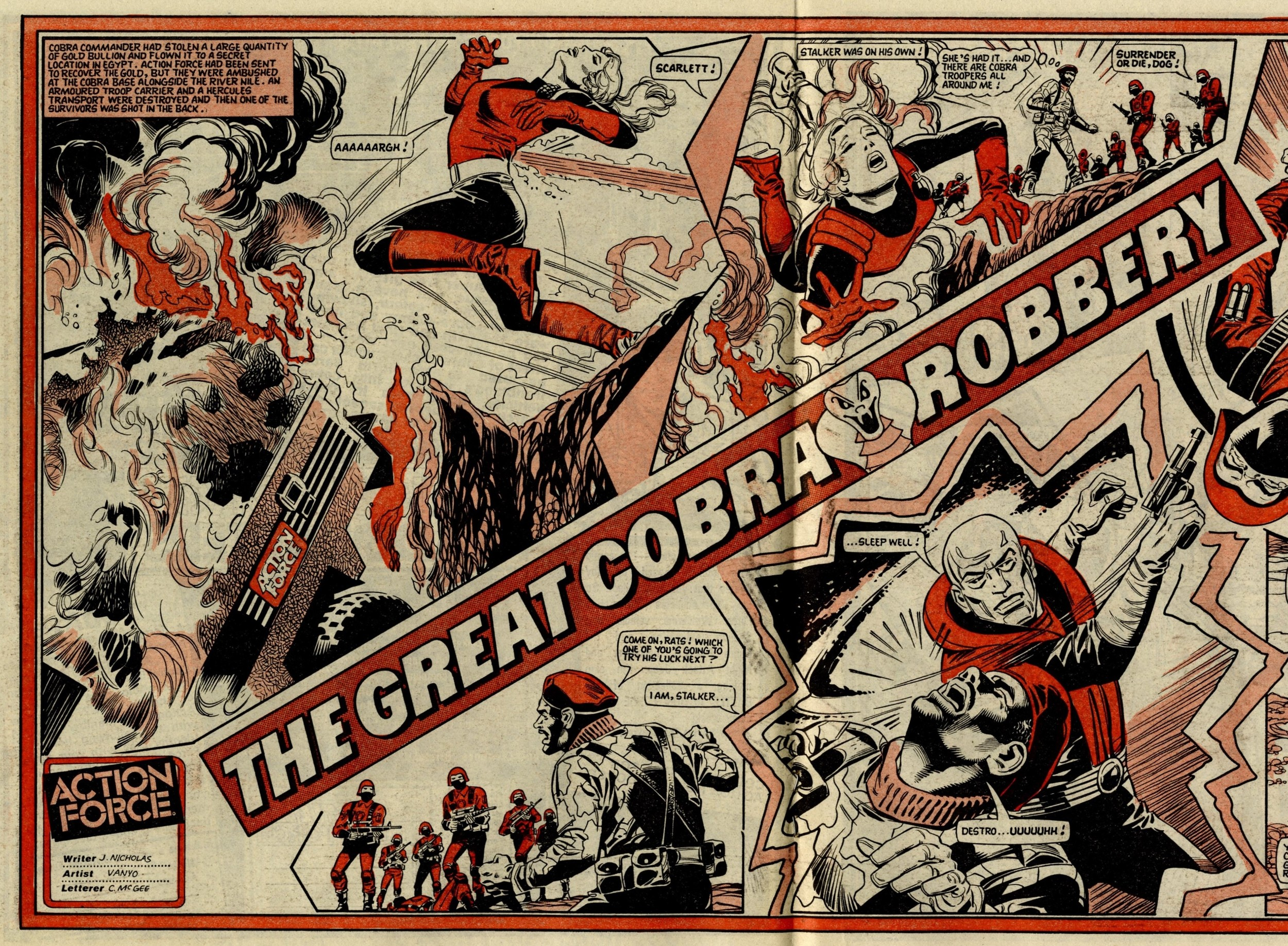 Action force: The Great Cobra Robbery: James Nicholas (writer), Eduardo Vanyo (artist)