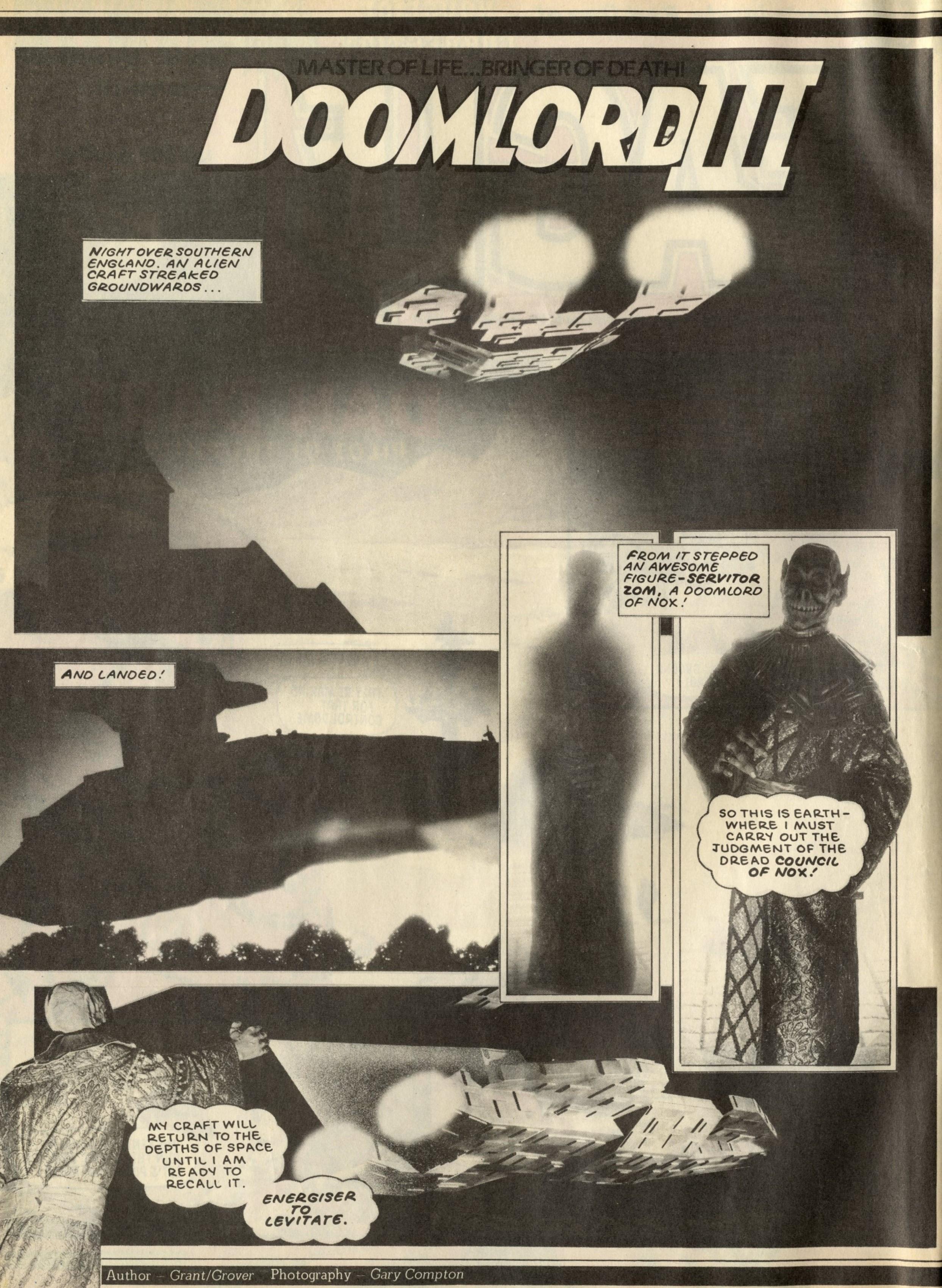 Doomlord: Alan Grant and John Wagner (writers), Gary Compton (photographer)