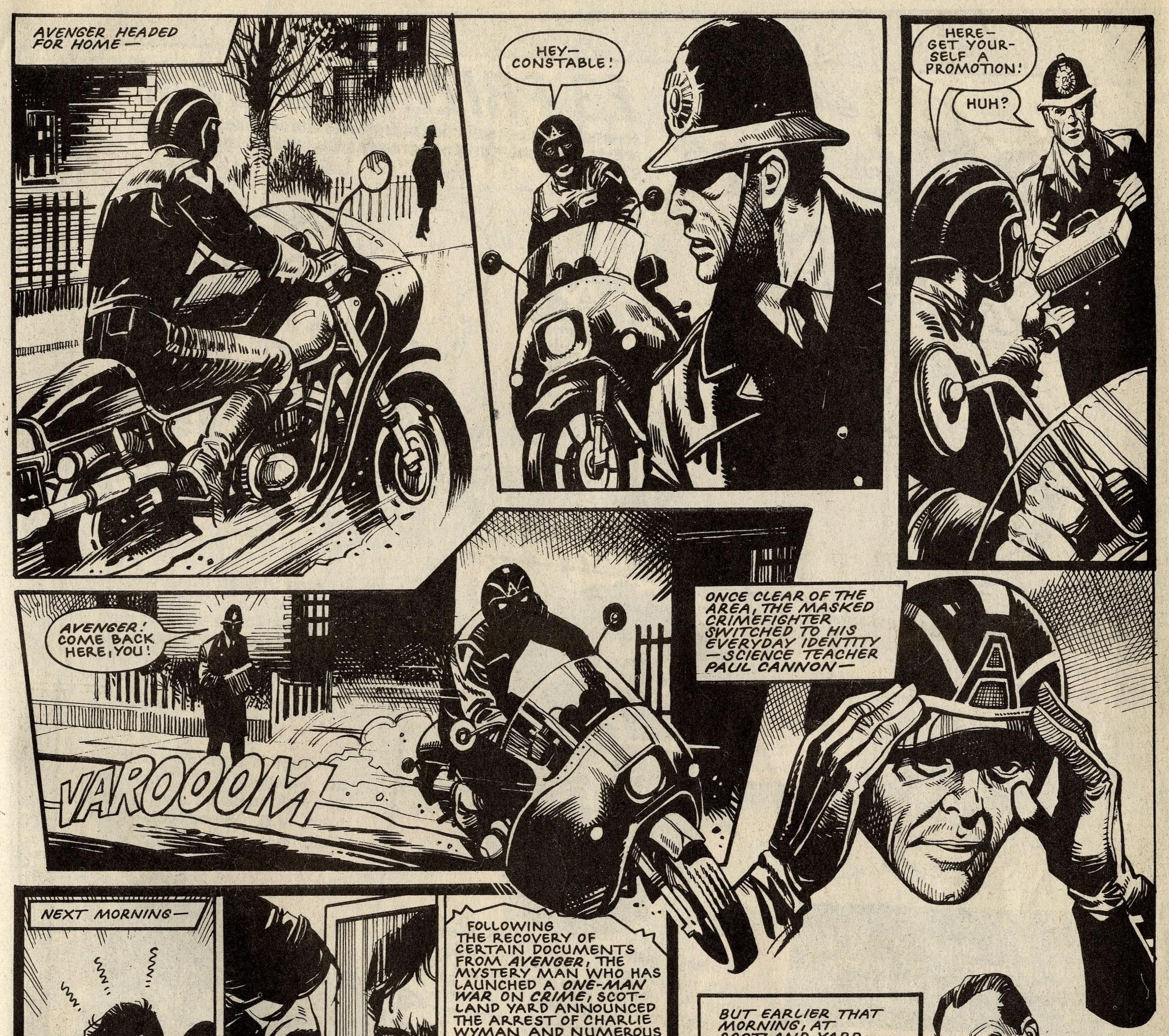 Avenger: John Wagner and Alan Grant (writer), Mike Western (artist)