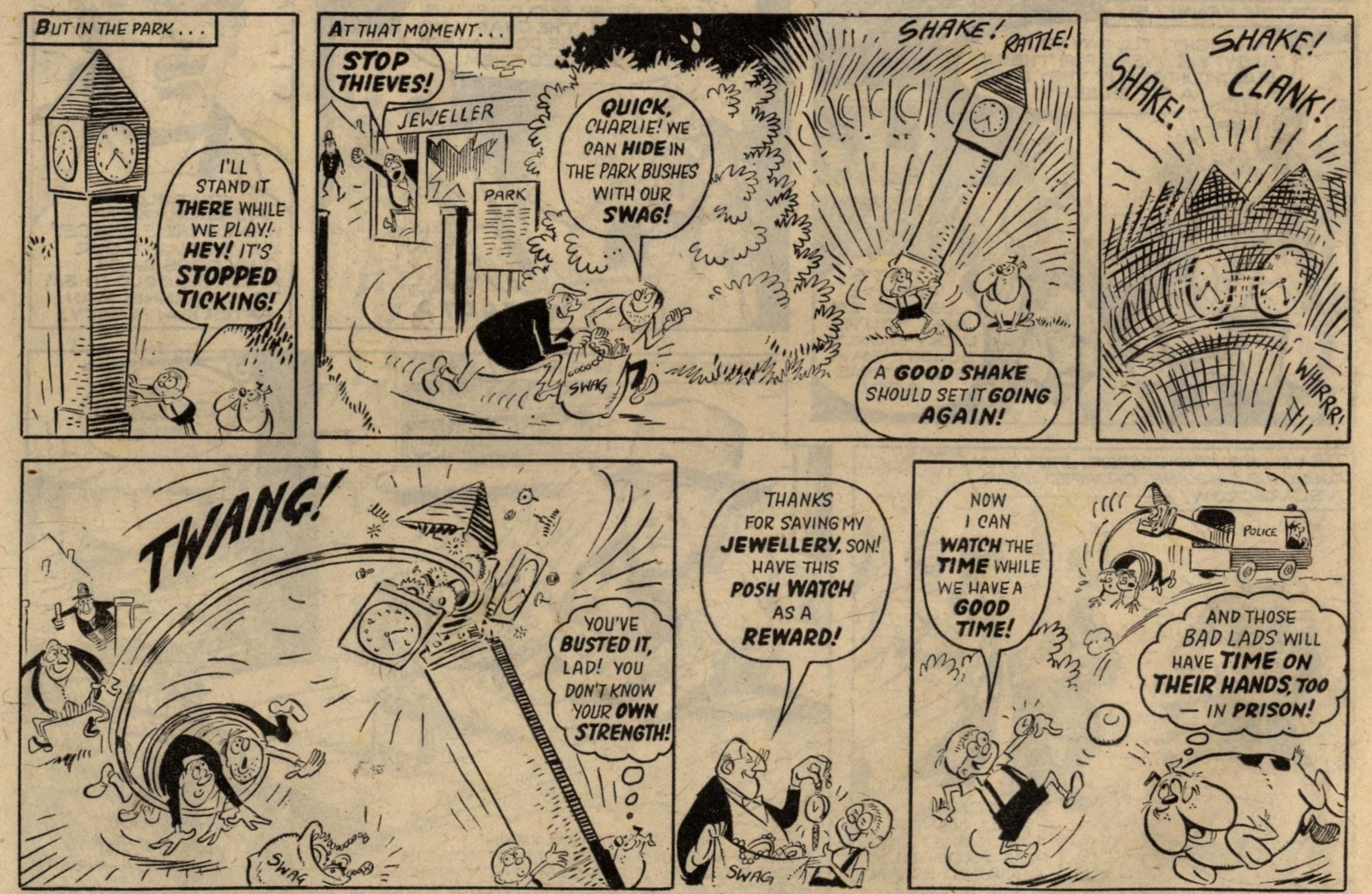 Sam Sunn and his Daft Dog Bonehead: Reg Parlett (artist)
