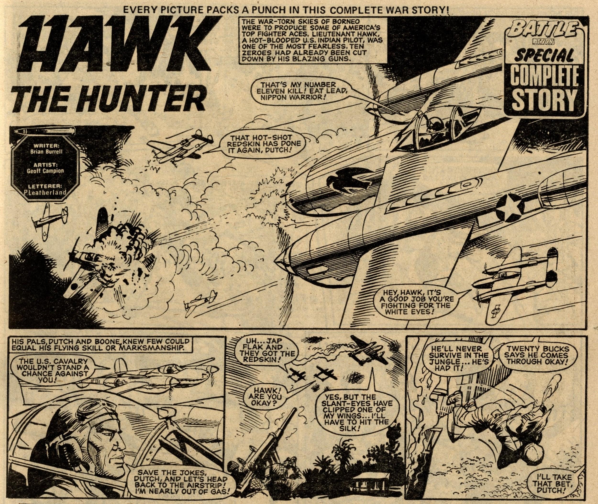 Hawk the Hunter: Brian Burrell (writer), Geoff Campion (artist)