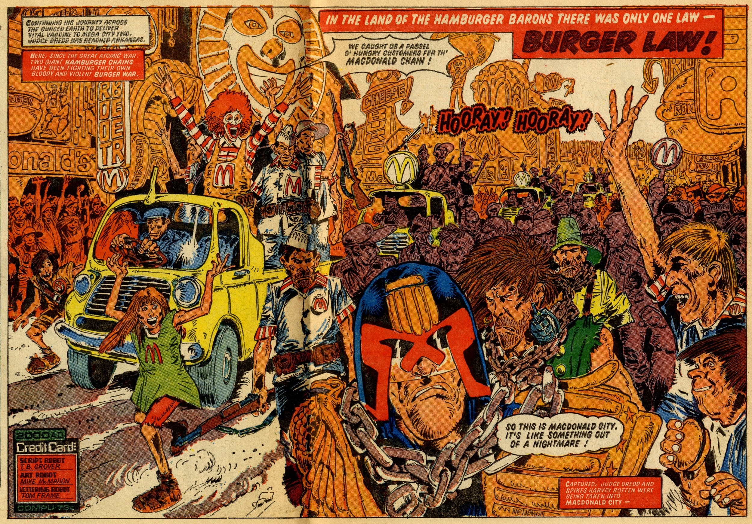 Judge Dredd: The Cursed Earth: John Wagner (writer), Mike McMahon (artist)