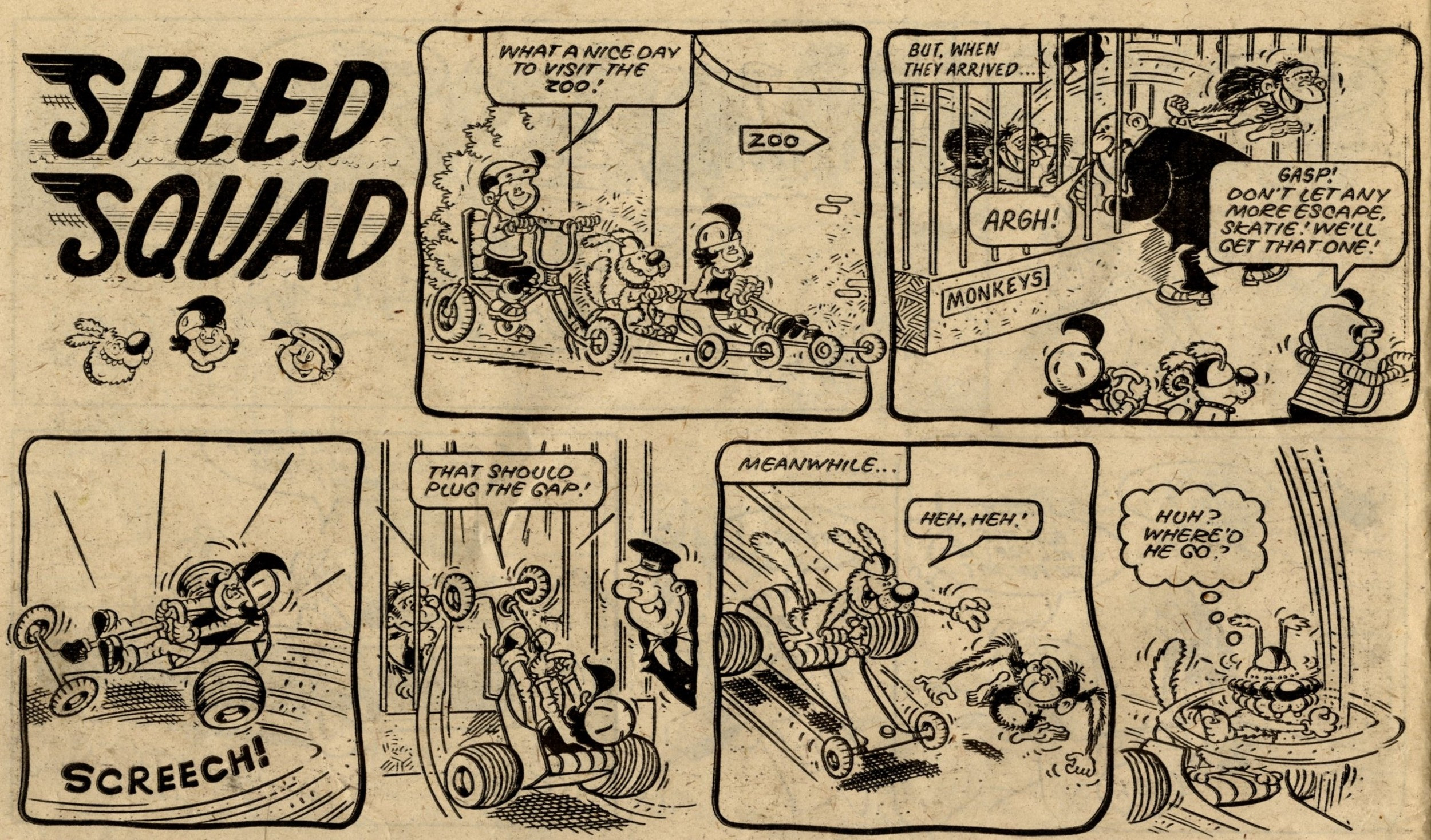 Speed Squad: Mike Lacey? Jimmy Hansen? (artist)
