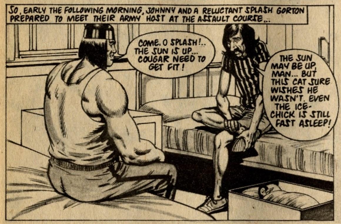 Johnny Cougar with Splash Gorton: Barrie Tomlinson (writer), Sandy James (artist)