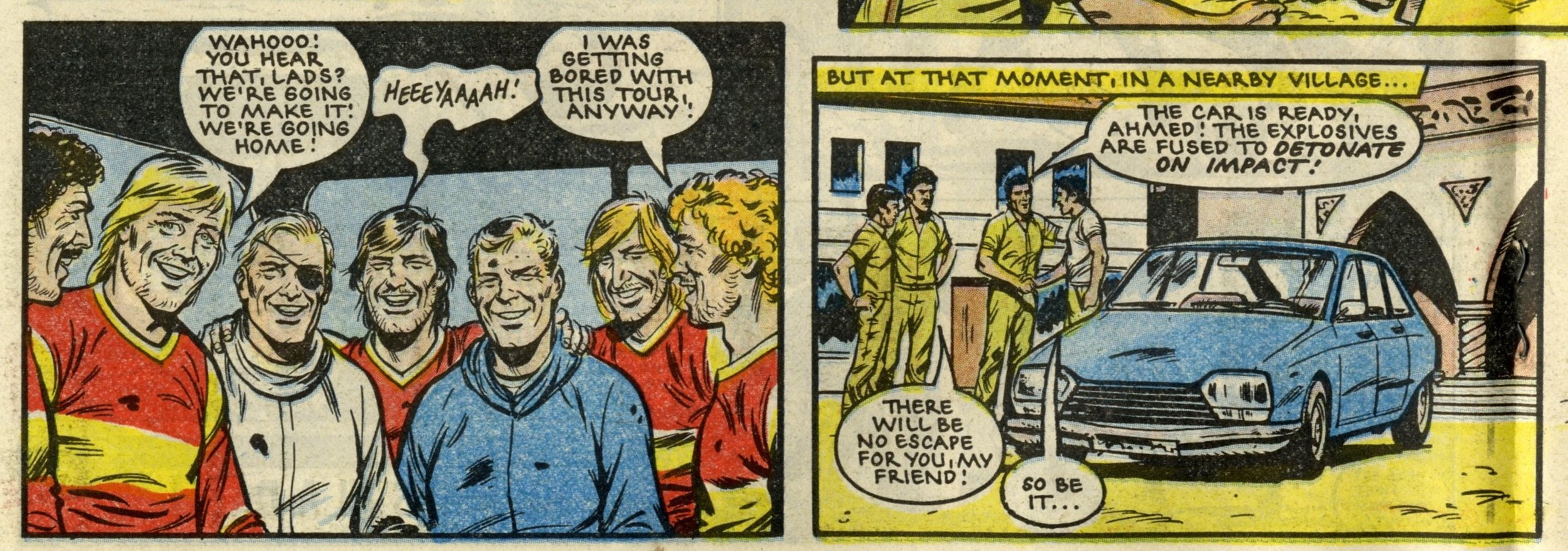 Roy of the Rovers (from previous issue, 12 July 1986): Tom Tully (writer), David Sque (artist)