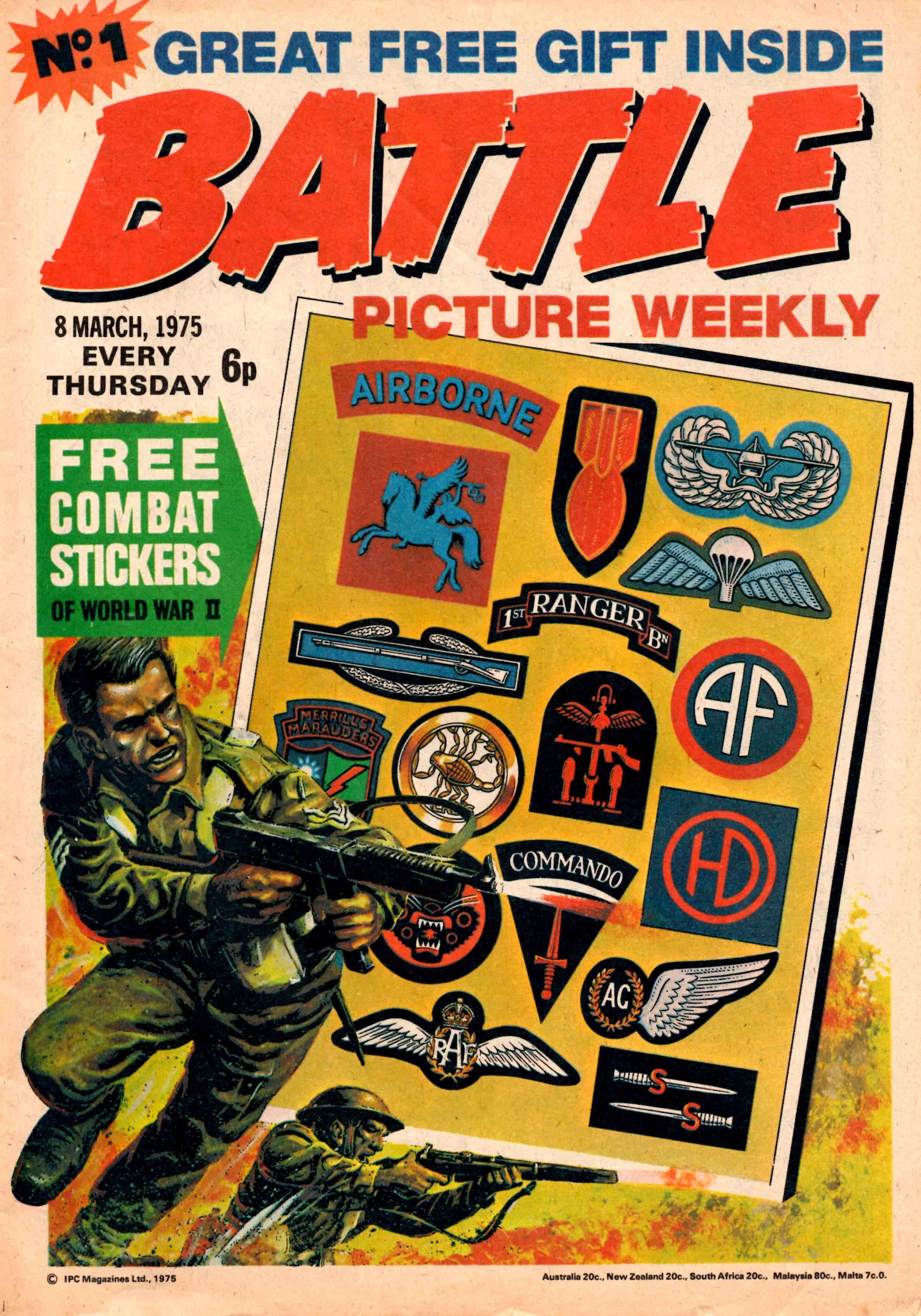 Issue one of  Battle Picture Weekly , which Steve helped to launch as sub-editor
