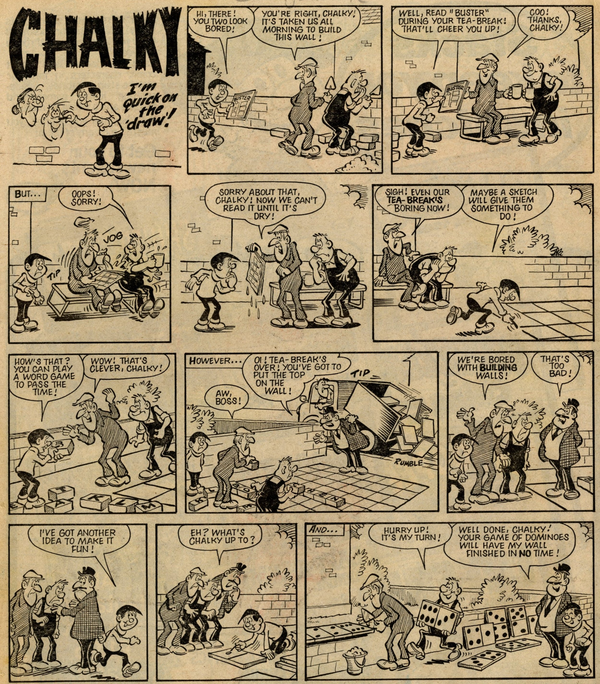 Chalky: Dick Millington (artist)