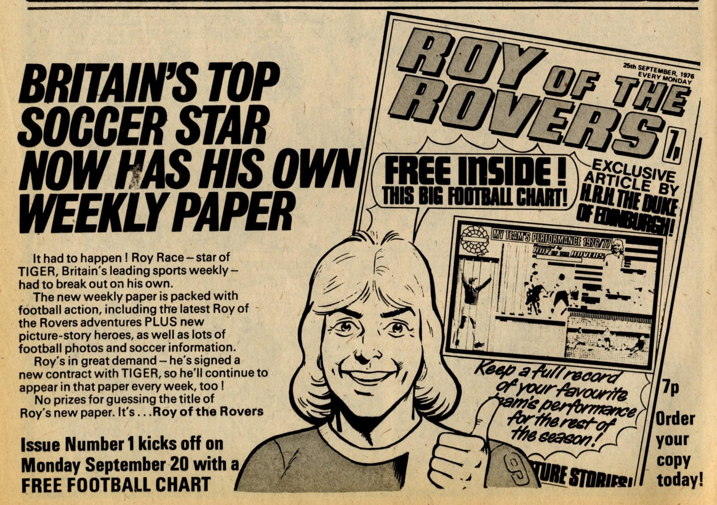 Advert from Tiger, 18 September 1976