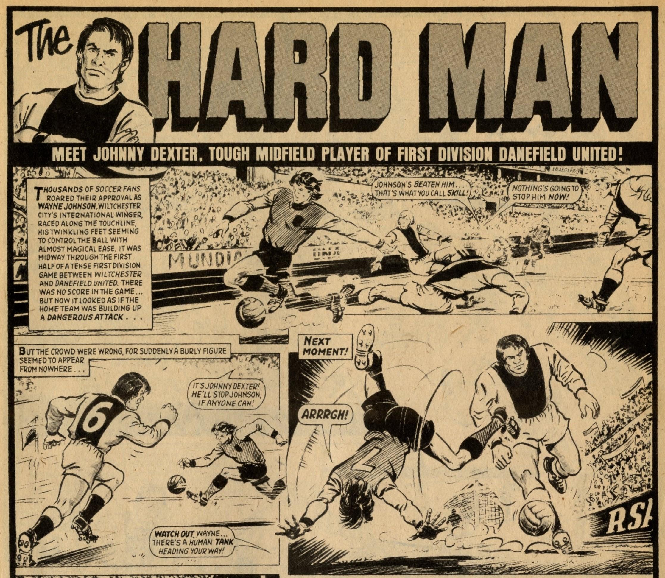 The Hard Man: Barrie Tomlinson (writer), artist uncertain