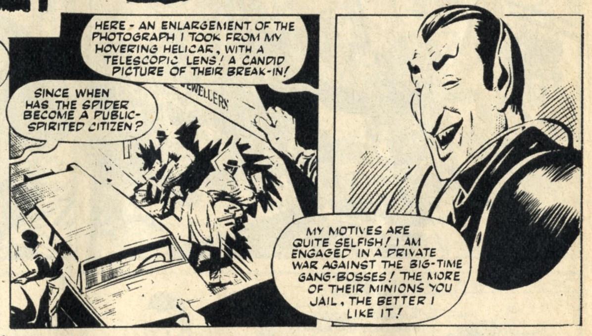 The Spider (reprinted from Lion, 1966): Jerry Siegel (writer), Reg Bunn (artist)