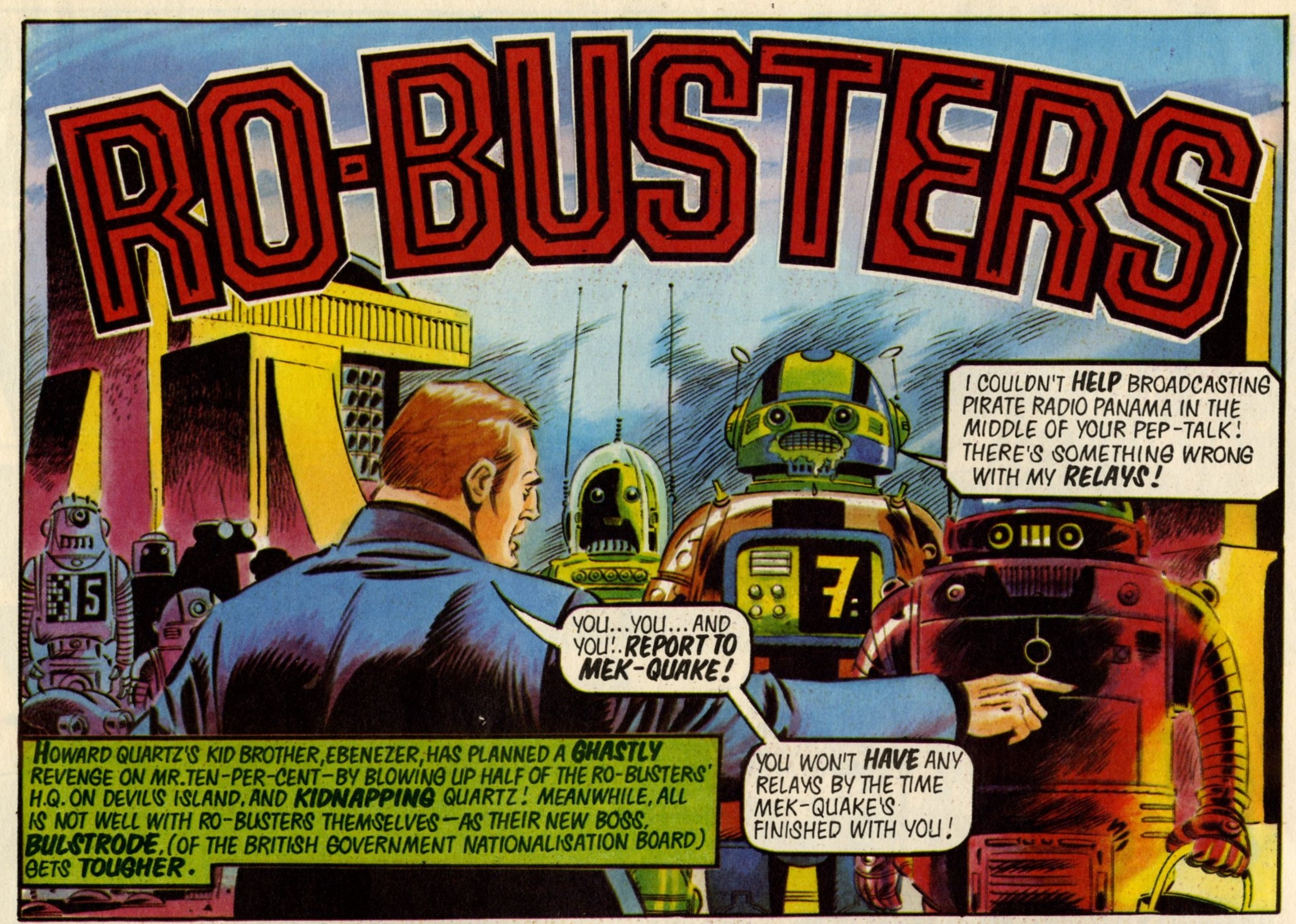 Ro-busters: Chris Lowder (writer), Jose Ferrar (artist)