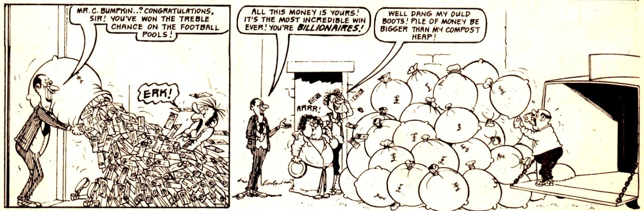 The Bumpkin Billionaires, from Whoopee! 9 March 1974: Mike Lacey (artist)