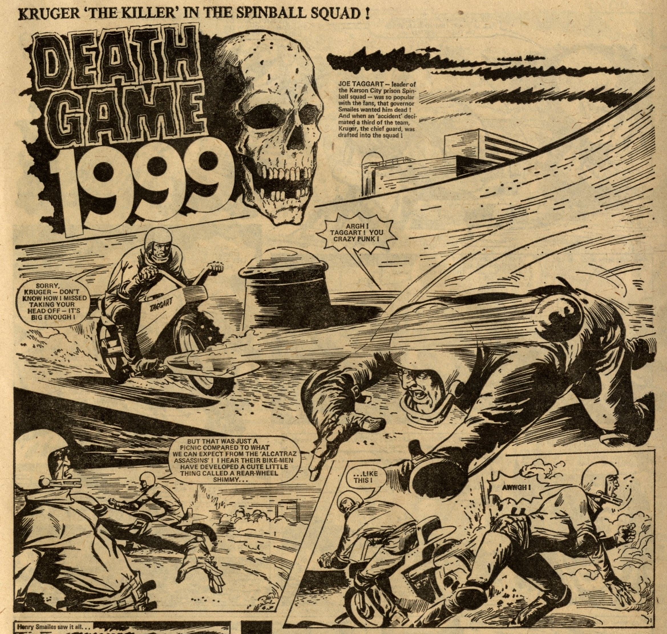 Death Game 1999: Tom Tully (writer), Costa (artist)