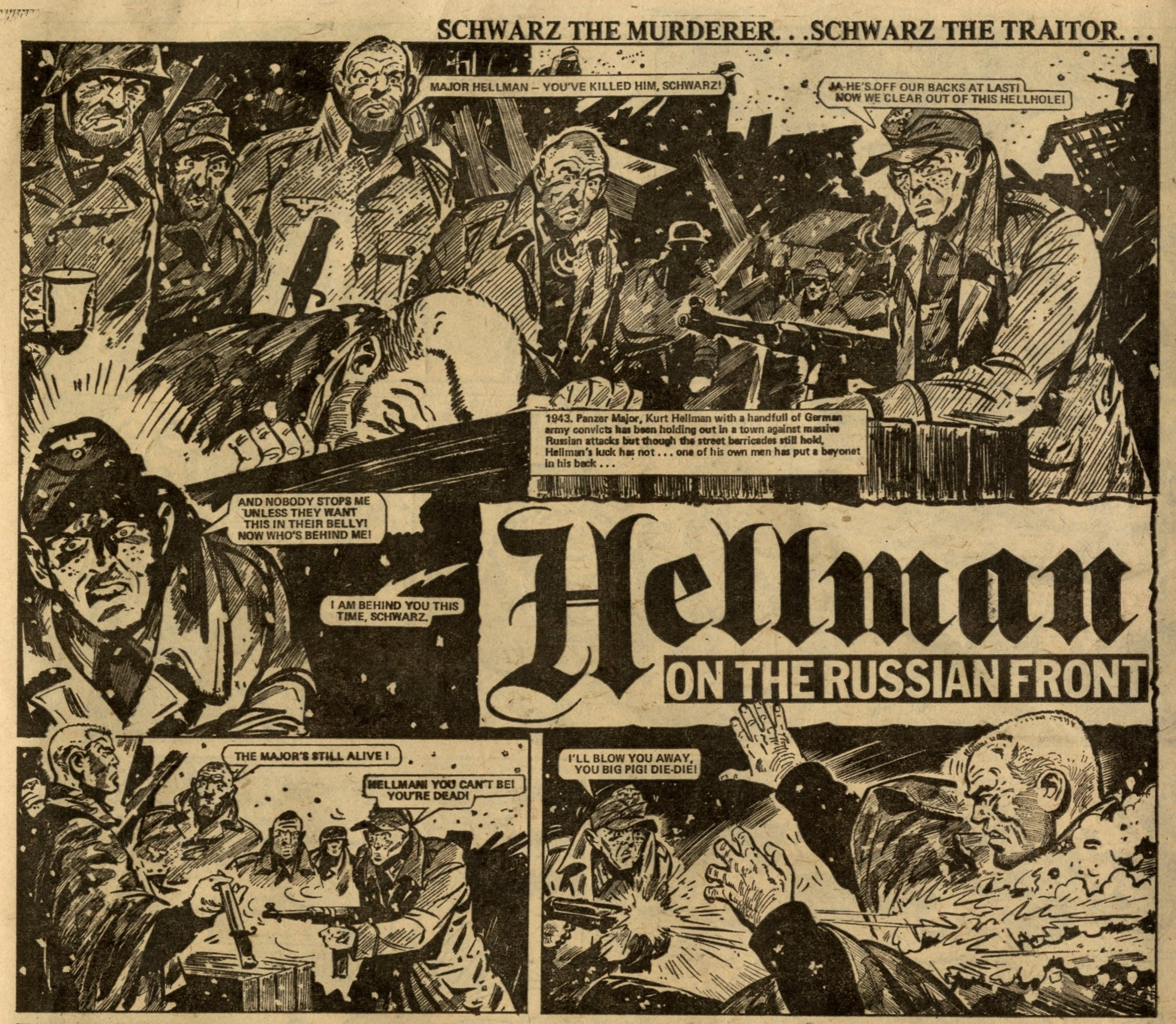 Hellman of the Russian Front: Gerry Finley-Day (writer), Eric Bradbury? (artist)