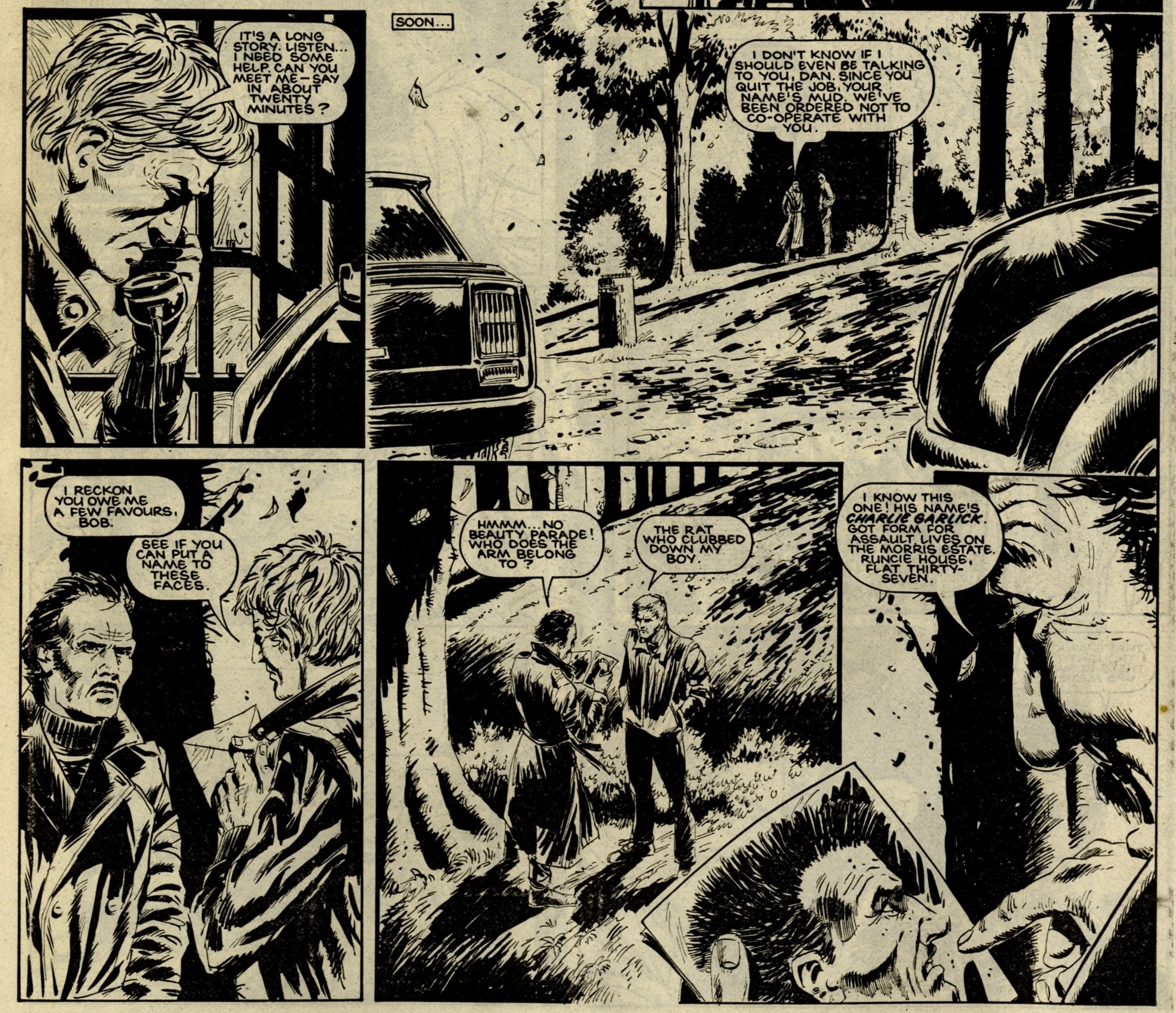 Harker's War: John Wagner and Alan Grant (writers), artist unknown