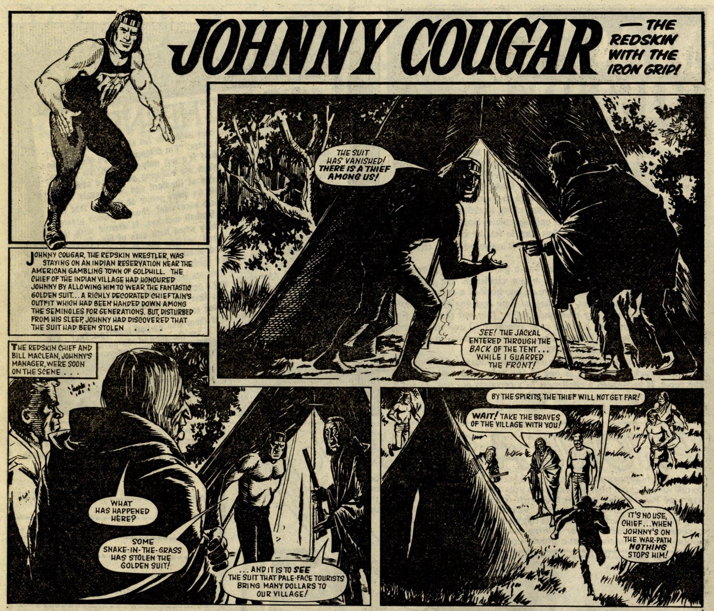 Johnny Cougar, reprinted from Tiger: Barrie Tomlinson (writer), John Gillatt (artist)